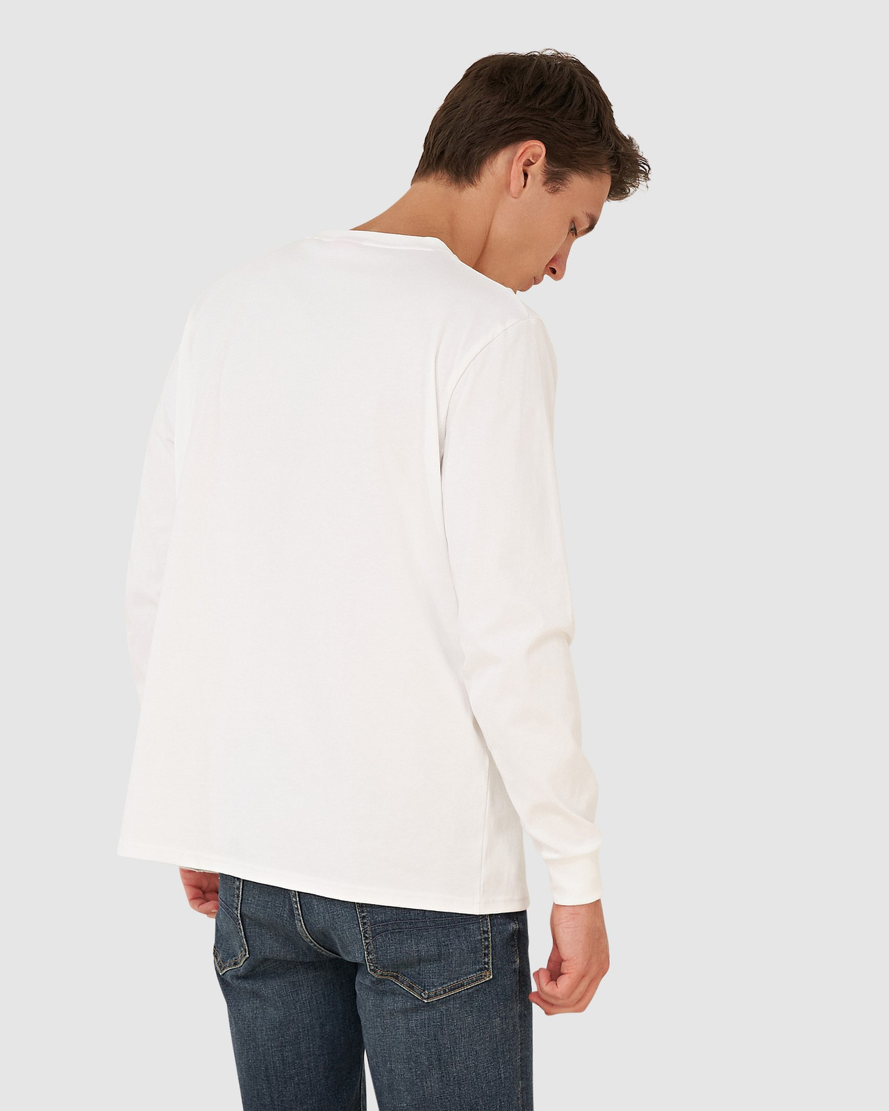 Superdry Mens YACHT PREP LS TOP White Long Sleeve T Shirts 2