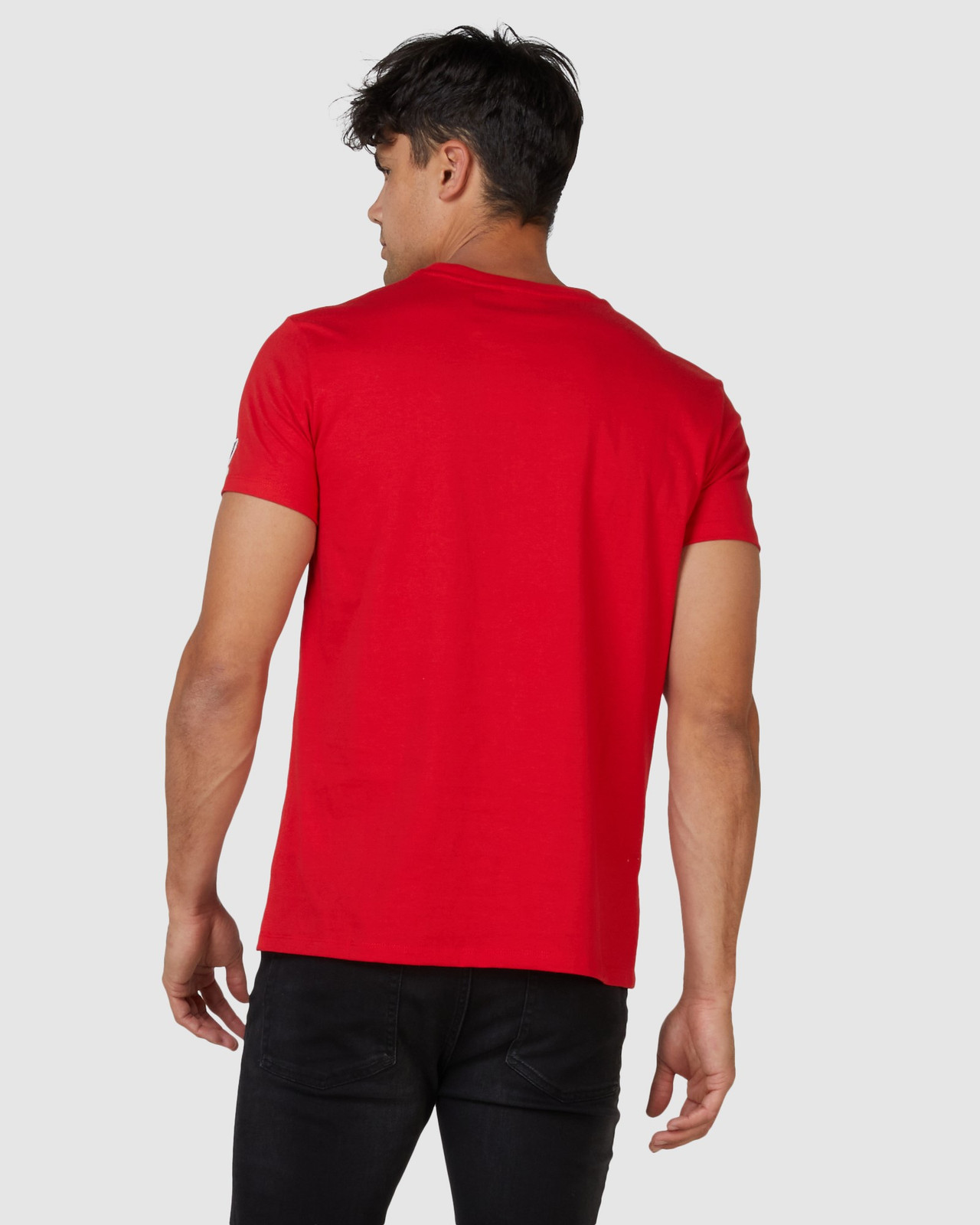 Superdry Mens SPORTSTYLE EMBOSS TEE Red Printed T Shirts 3