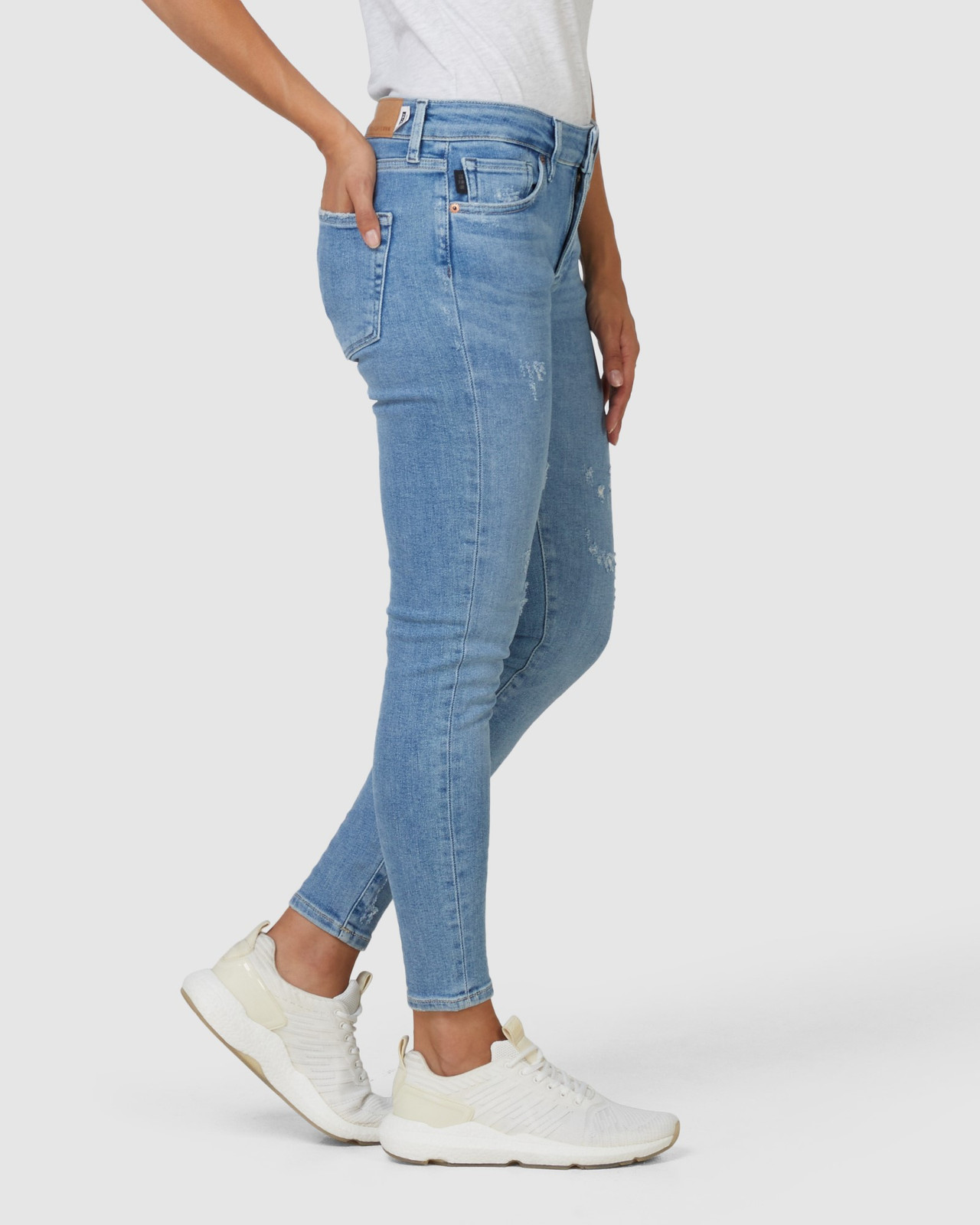 Superdry Womens MID RISE SKINNY Blue Skinny Jeans 5