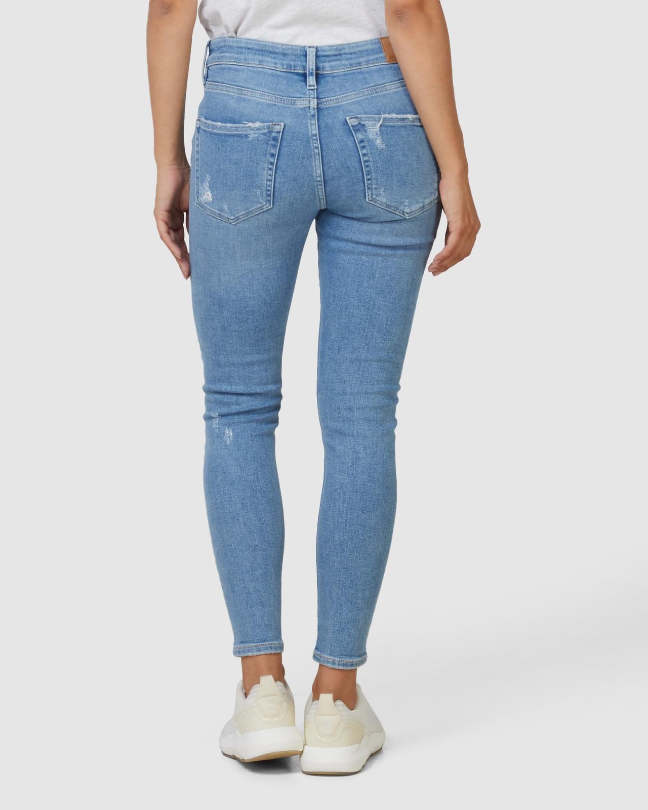 Superdry Womens MID RISE SKINNY Blue Skinny Jeans 7