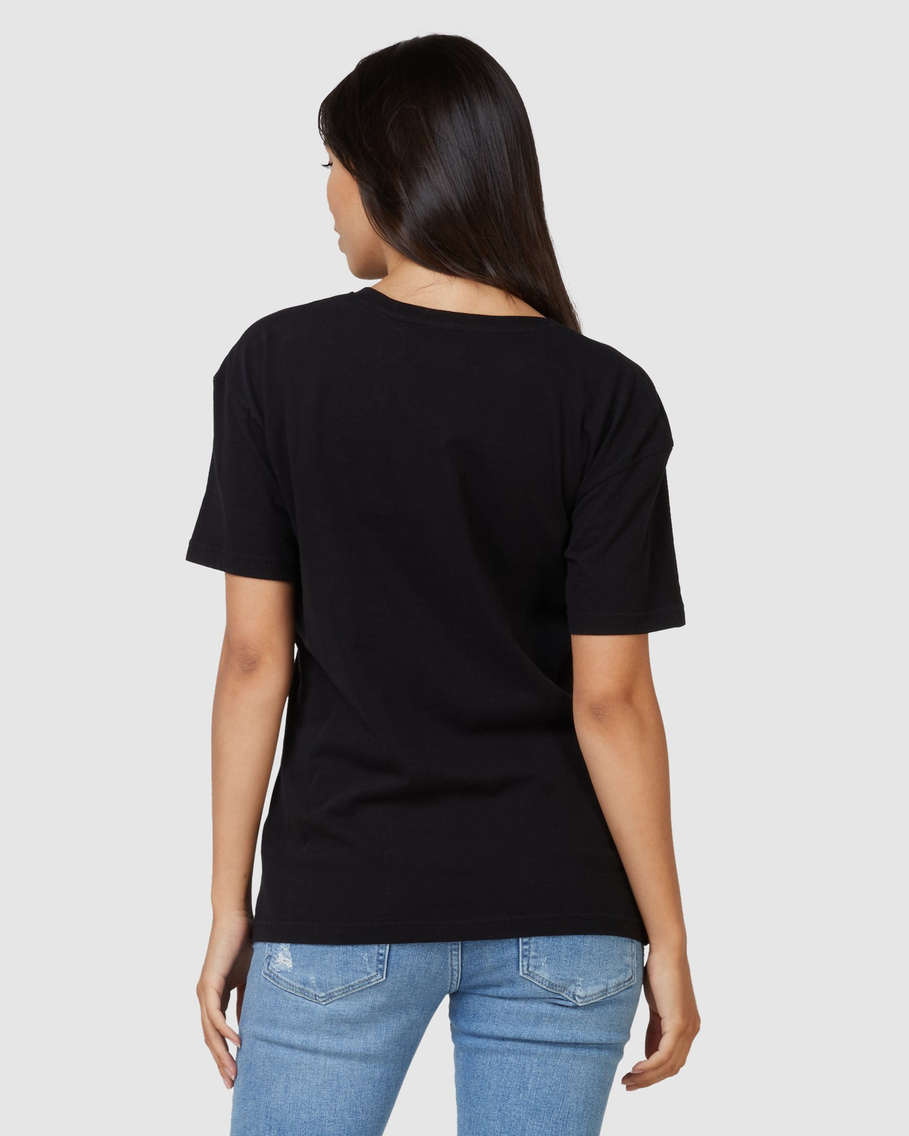 Superdry Womens Sdry Panel Tee Black Printed T Shirts 3