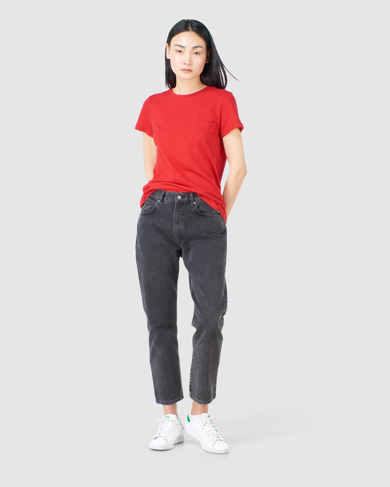 Superdry Womens SCRIPTED CREW TEE Red Plain T Shirts 1