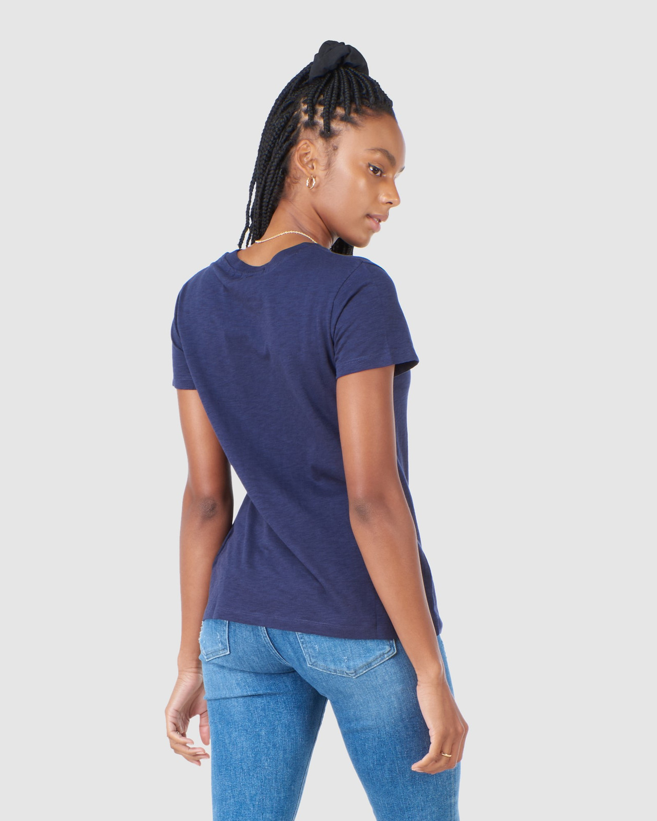 Superdry Womens SCRIPTED CREW TEE Navy Plain T Shirts 4