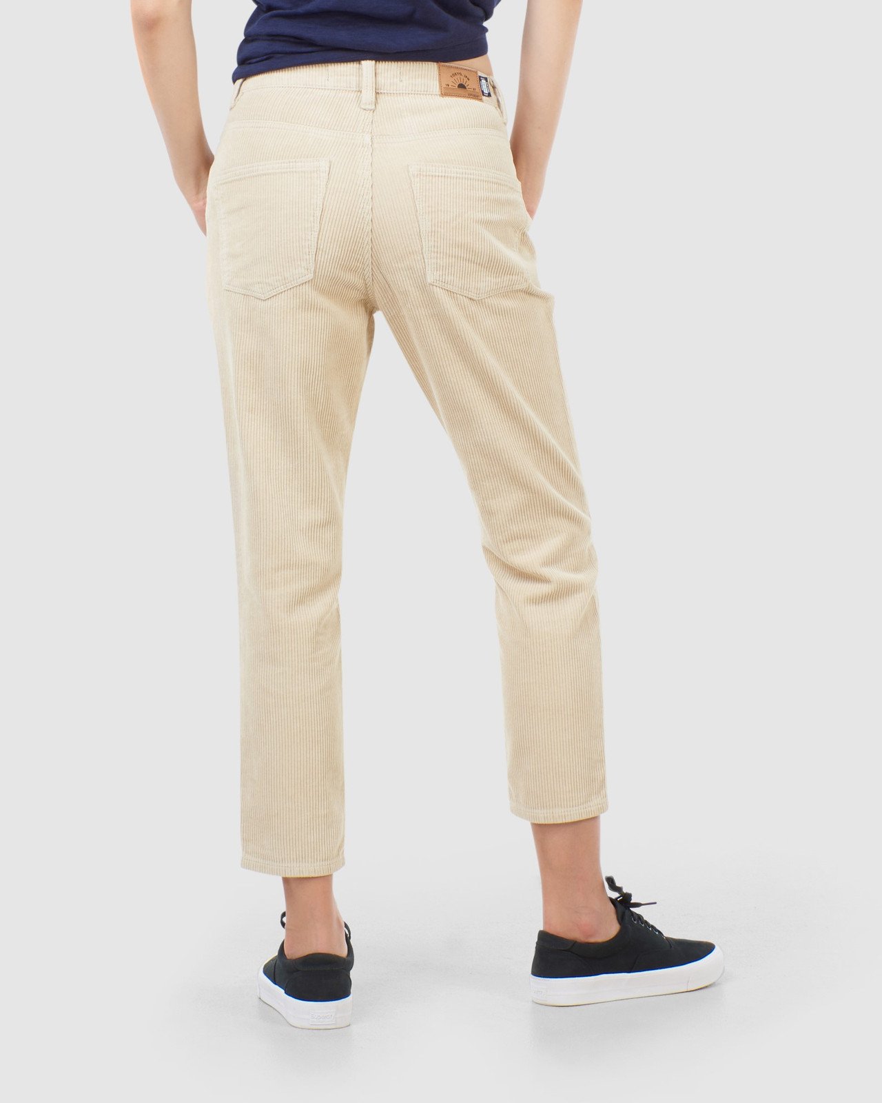 Superdry Womens HIGH SLIM TAPER CORD Neutrals Casual Pants 3