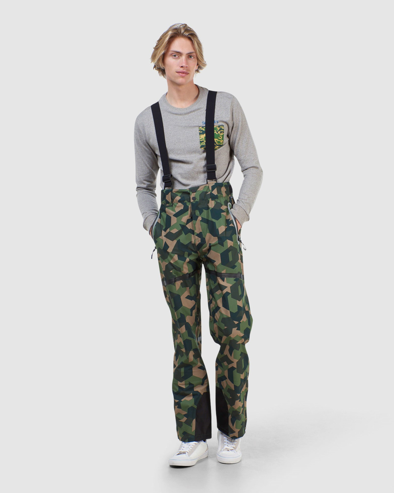 Superdry Mens EXPEDITION SHELL PANT Green Snow Pants 1