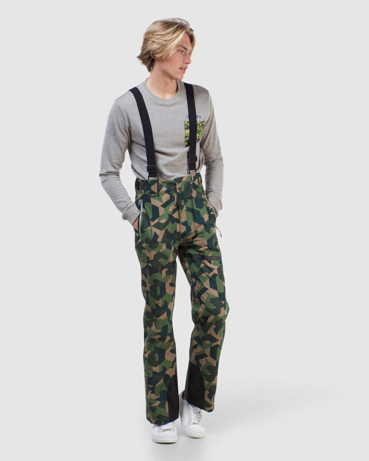Superdry Mens EXPEDITION SHELL PANT Green Snow Pants 3