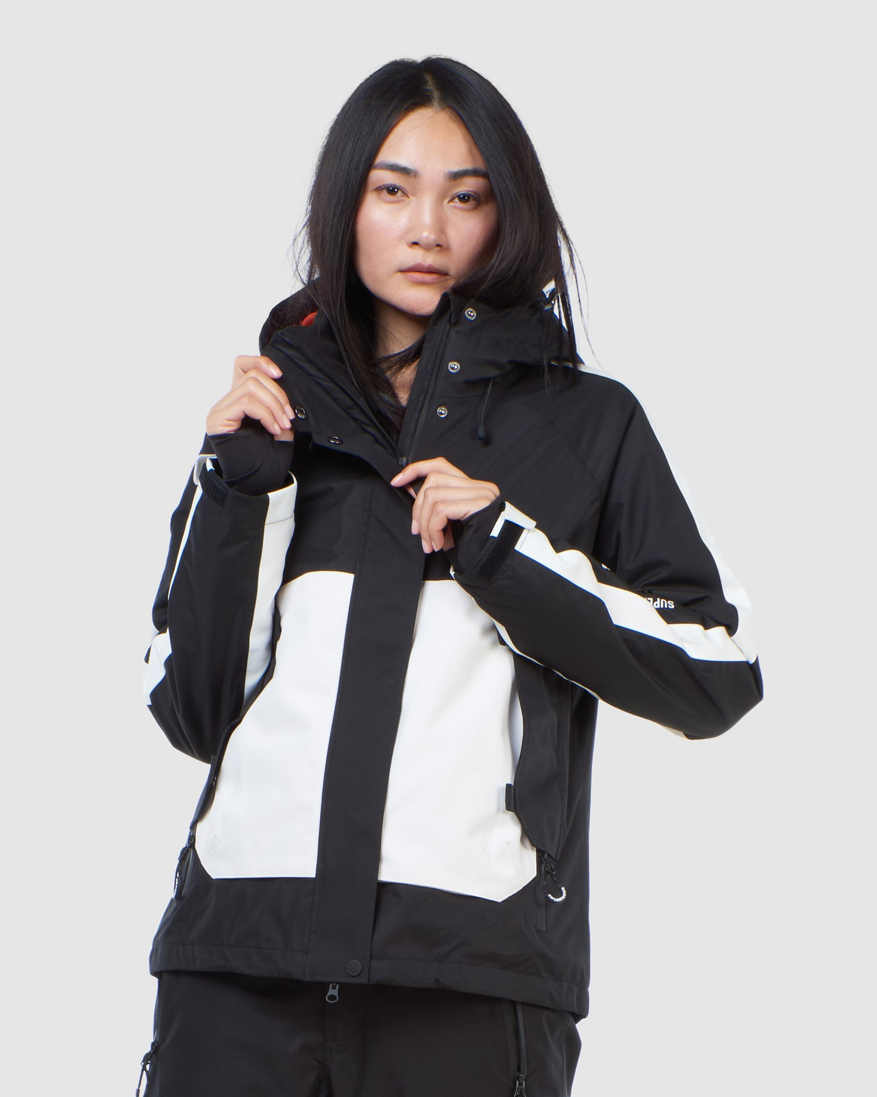 Superdry Womens FREESTYLE ATTACK JACKET Black Snow Jackets 0