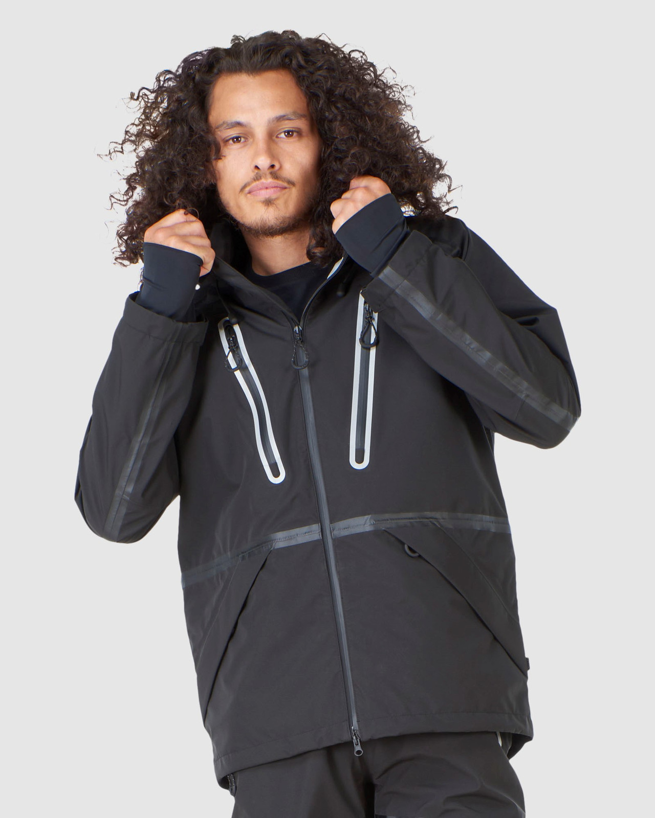Superdry Mens EXPEDITION SHELL JACKET Black Snow Jackets 1