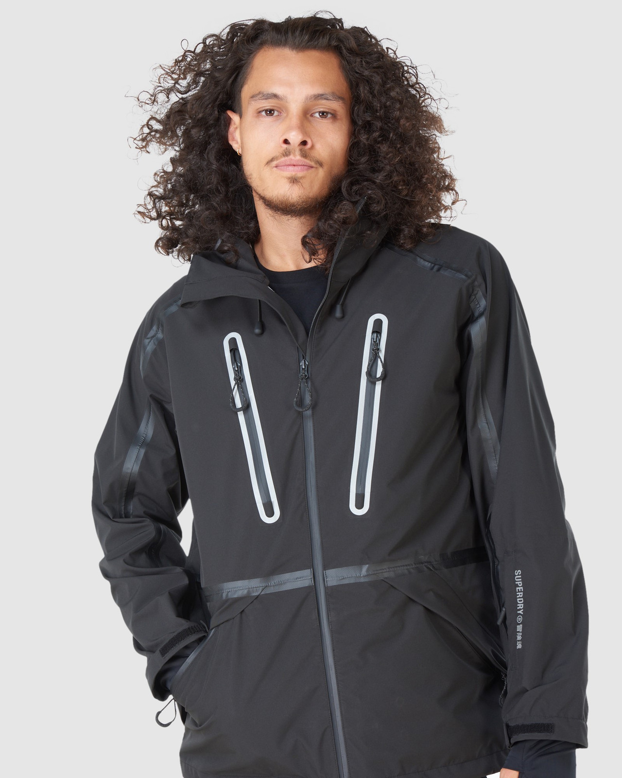 Superdry Mens EXPEDITION SHELL JACKET Black Snow Jackets 9