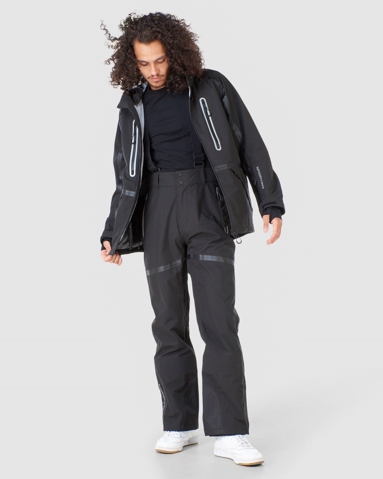 Superdry Mens EXPEDITION SHELL JACKET Black Snow Jackets 3