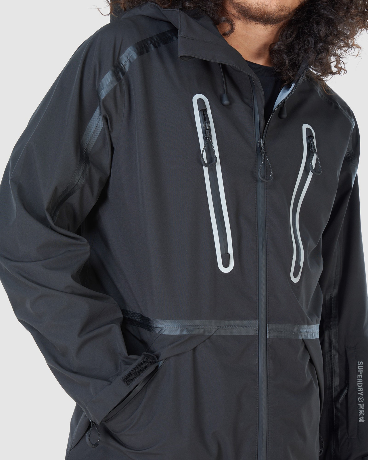 Superdry Mens EXPEDITION SHELL JACKET Black Snow Jackets 11