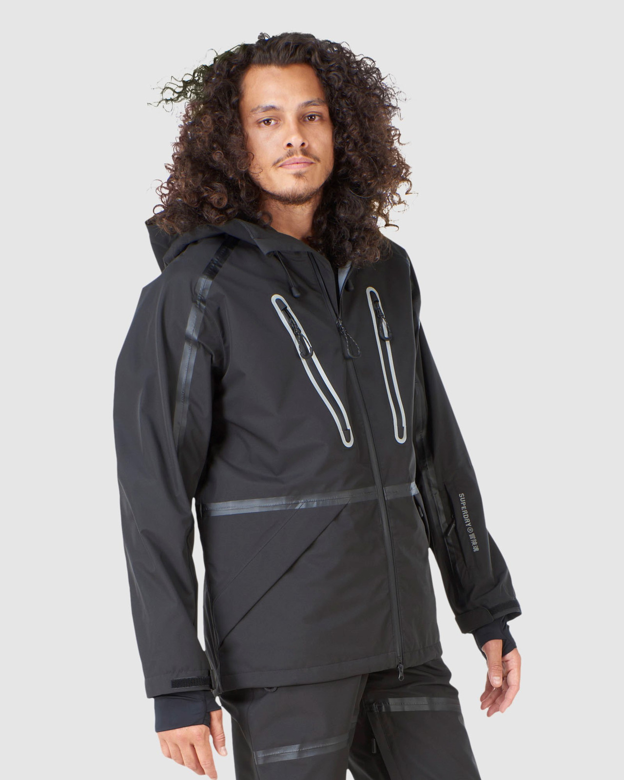 Superdry Mens EXPEDITION SHELL JACKET Black Snow Jackets 5
