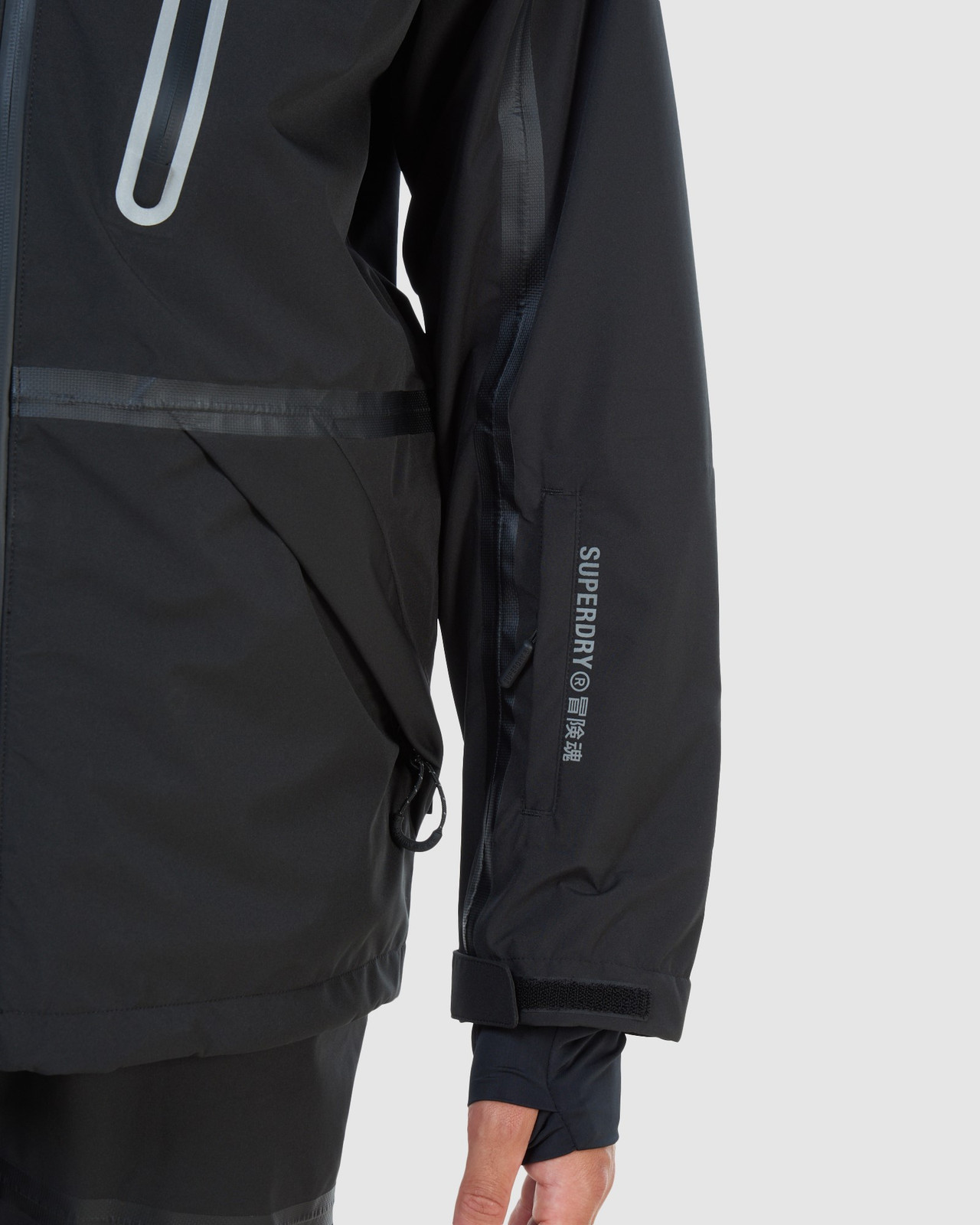 Superdry Mens EXPEDITION SHELL JACKET Black Snow Jackets 13