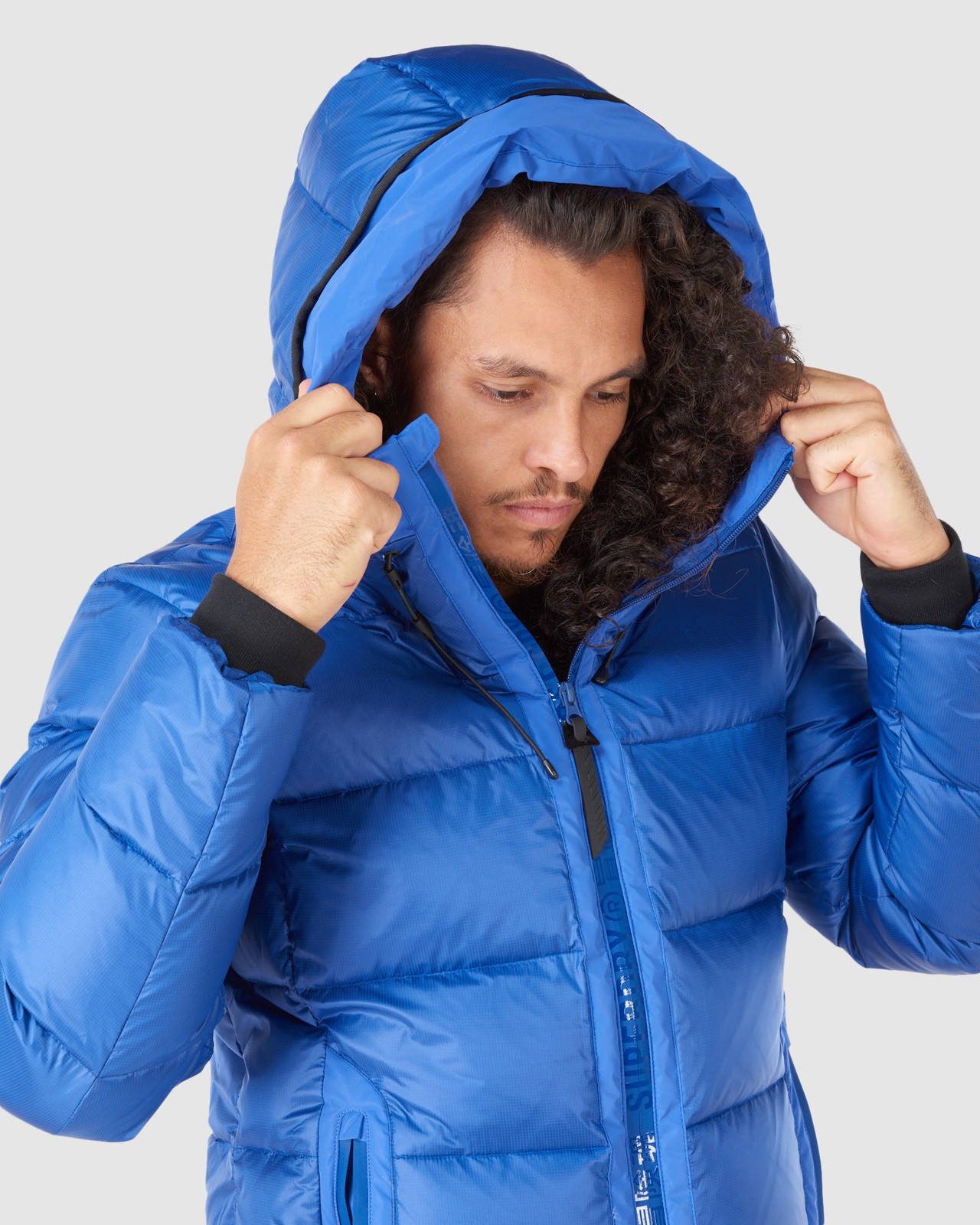 Superdry Mens MOUNTAIN PRO RACER PUFFER Blue Green Snow Jackets 6