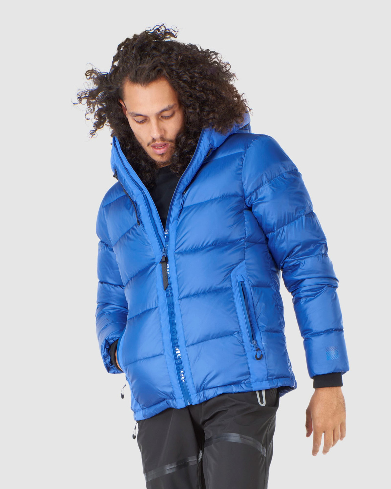 Superdry Mens MOUNTAIN PRO RACER PUFFER Blue Green Snow Jackets 0