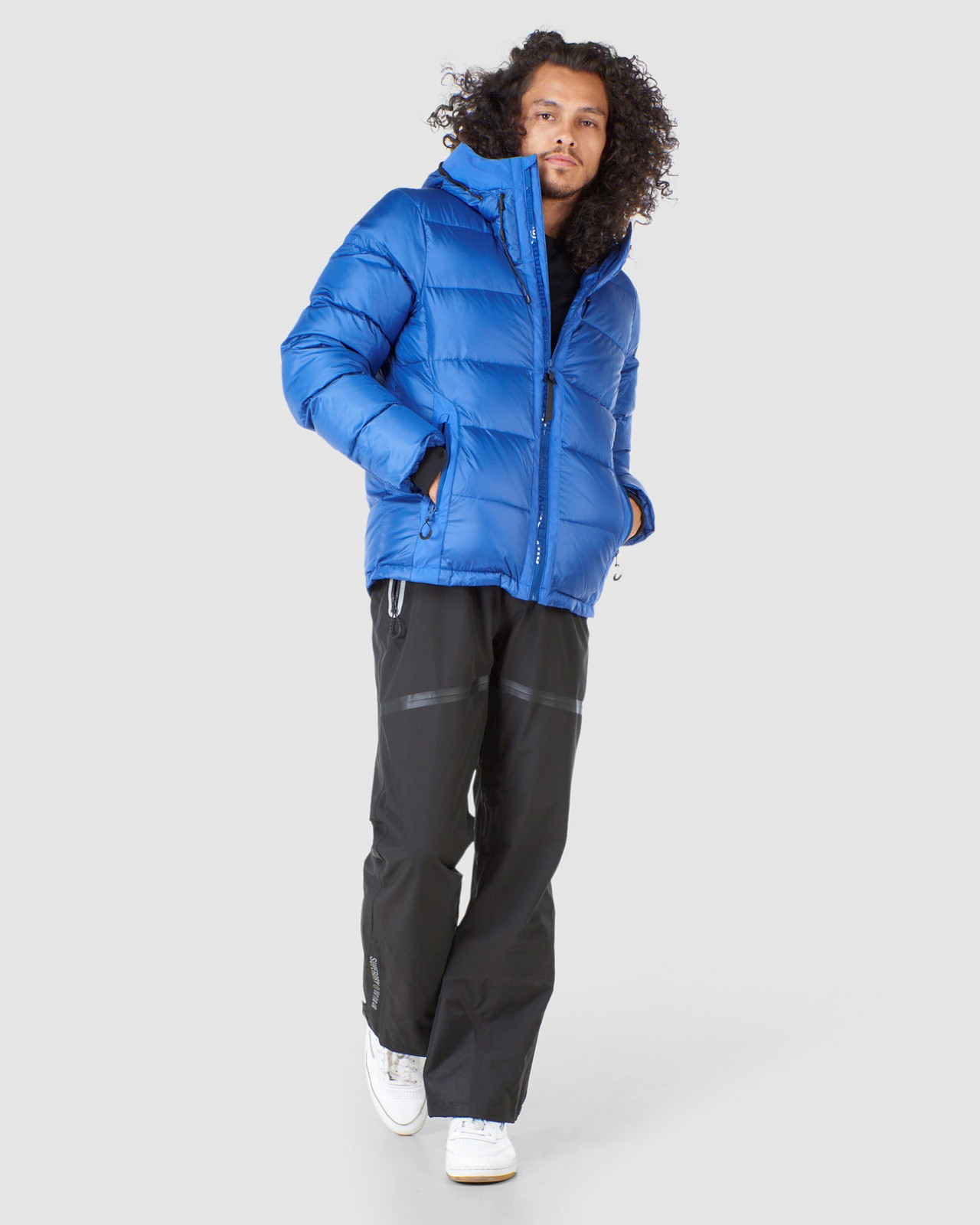 Superdry Mens MOUNTAIN PRO RACER PUFFER Blue Green Snow Jackets 1