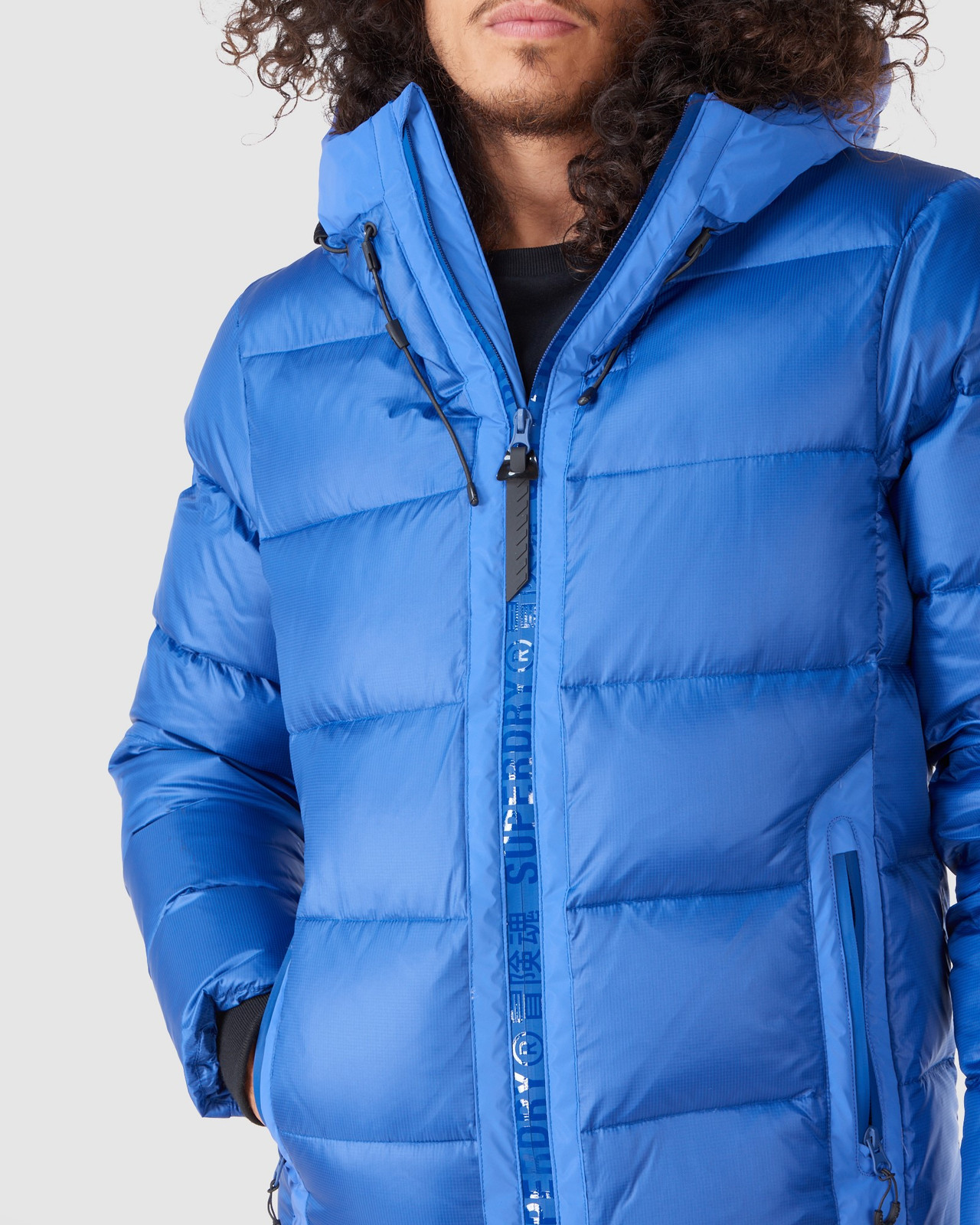 Superdry Mens MOUNTAIN PRO RACER PUFFER Blue Green Snow Jackets 4