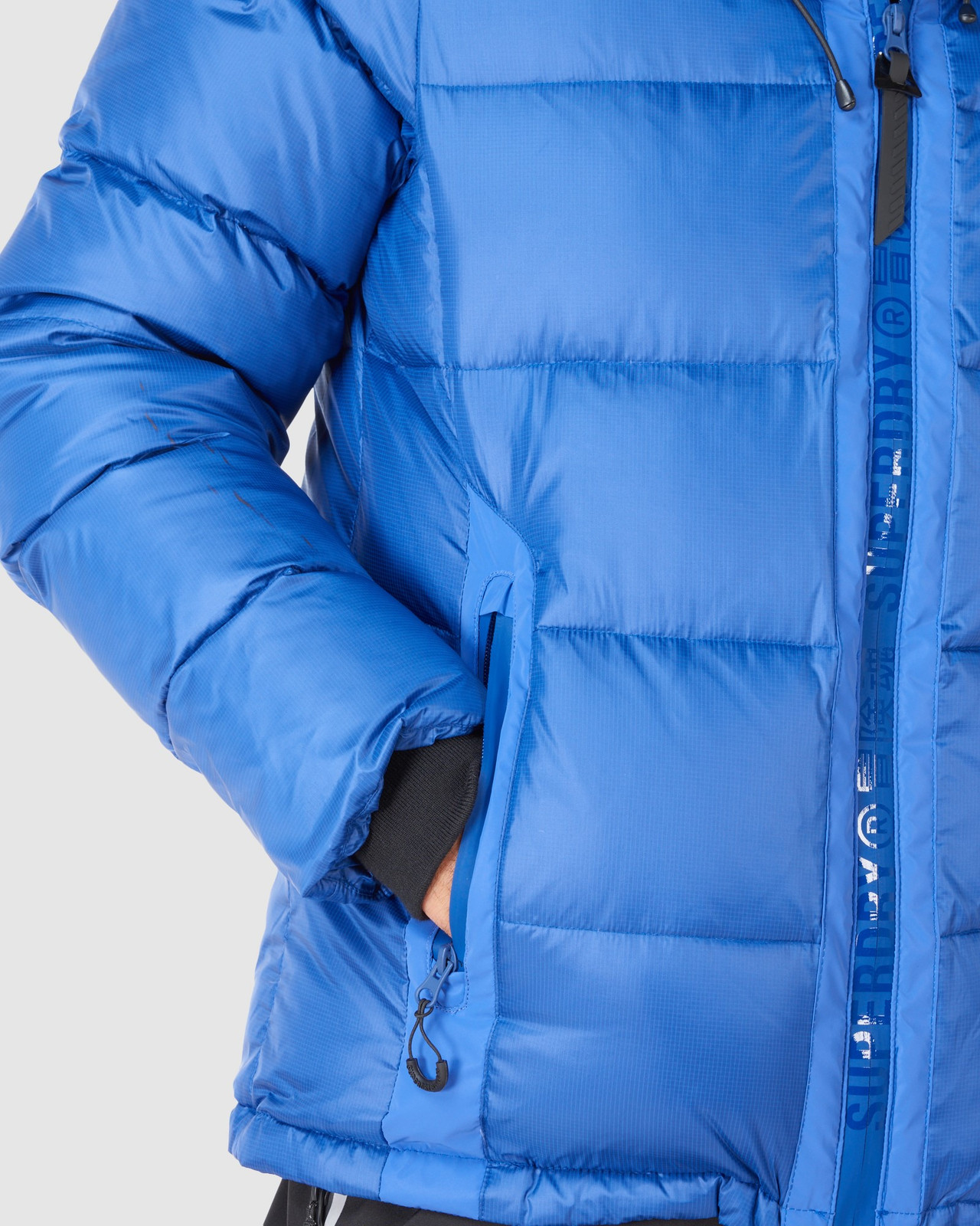 Superdry Mens MOUNTAIN PRO RACER PUFFER Blue Green Snow Jackets 5