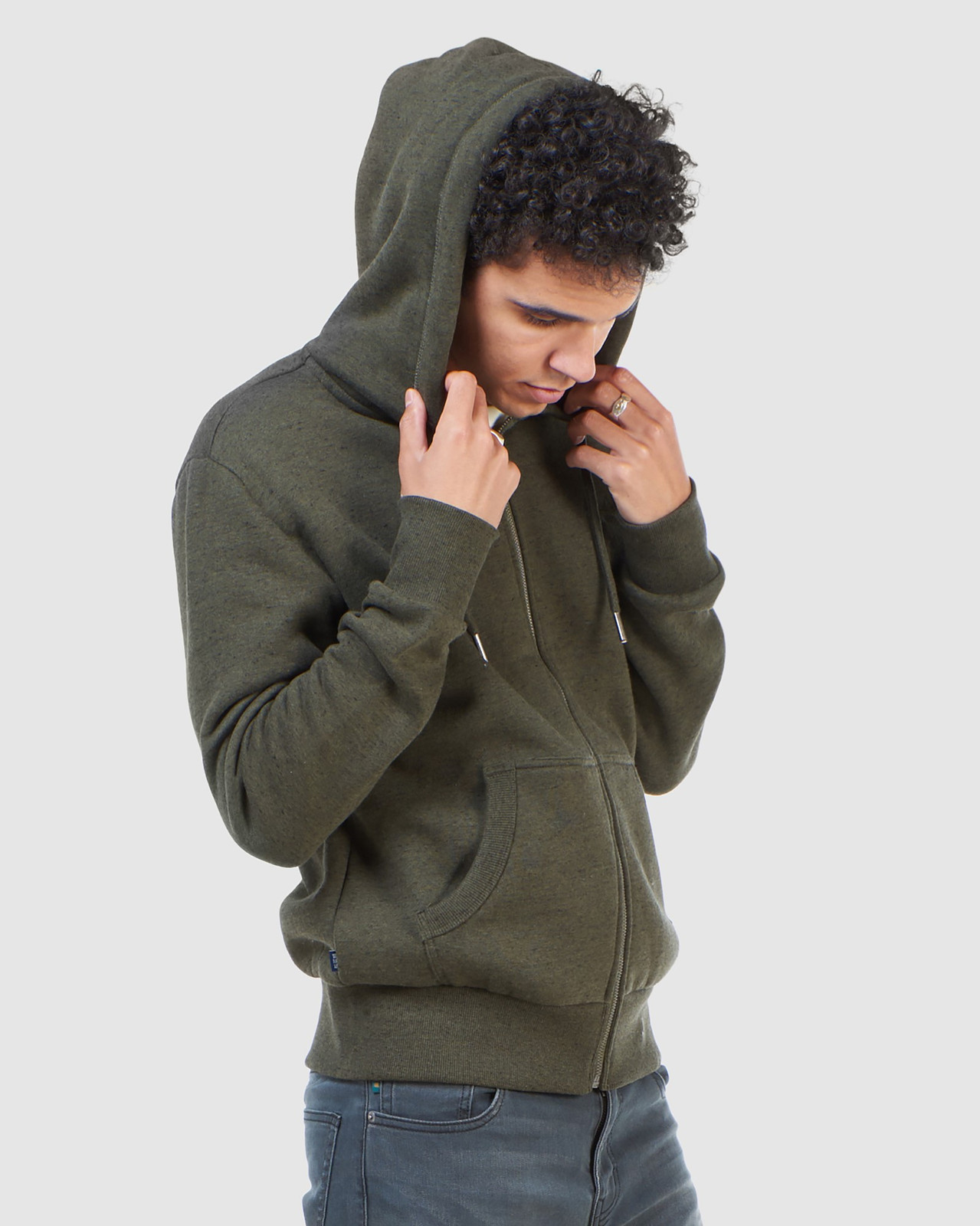 Superdry Mens Orange Label Classic Zip Hood Green Zip Hoodies 2