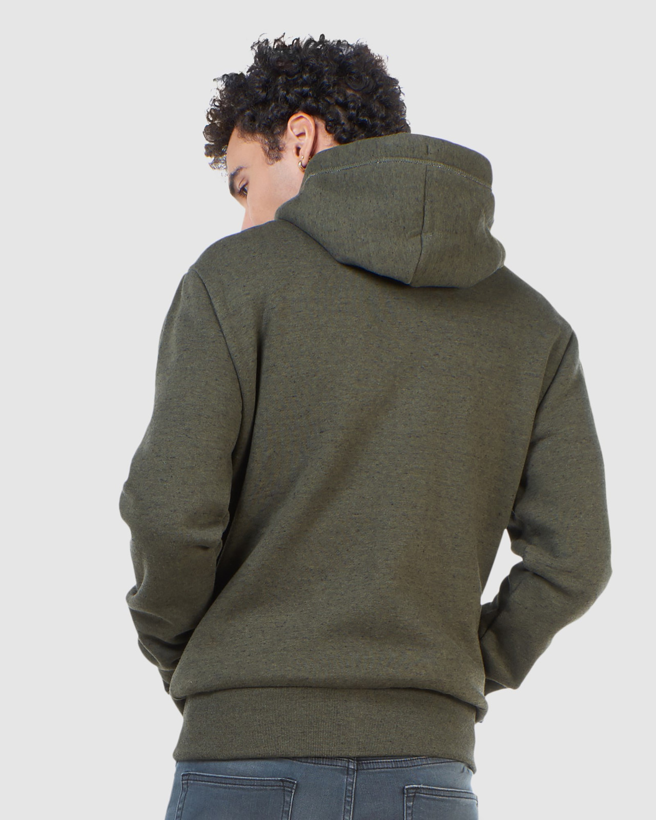 Superdry Mens Orange Label Classic Zip Hood Green Zip Hoodies 3