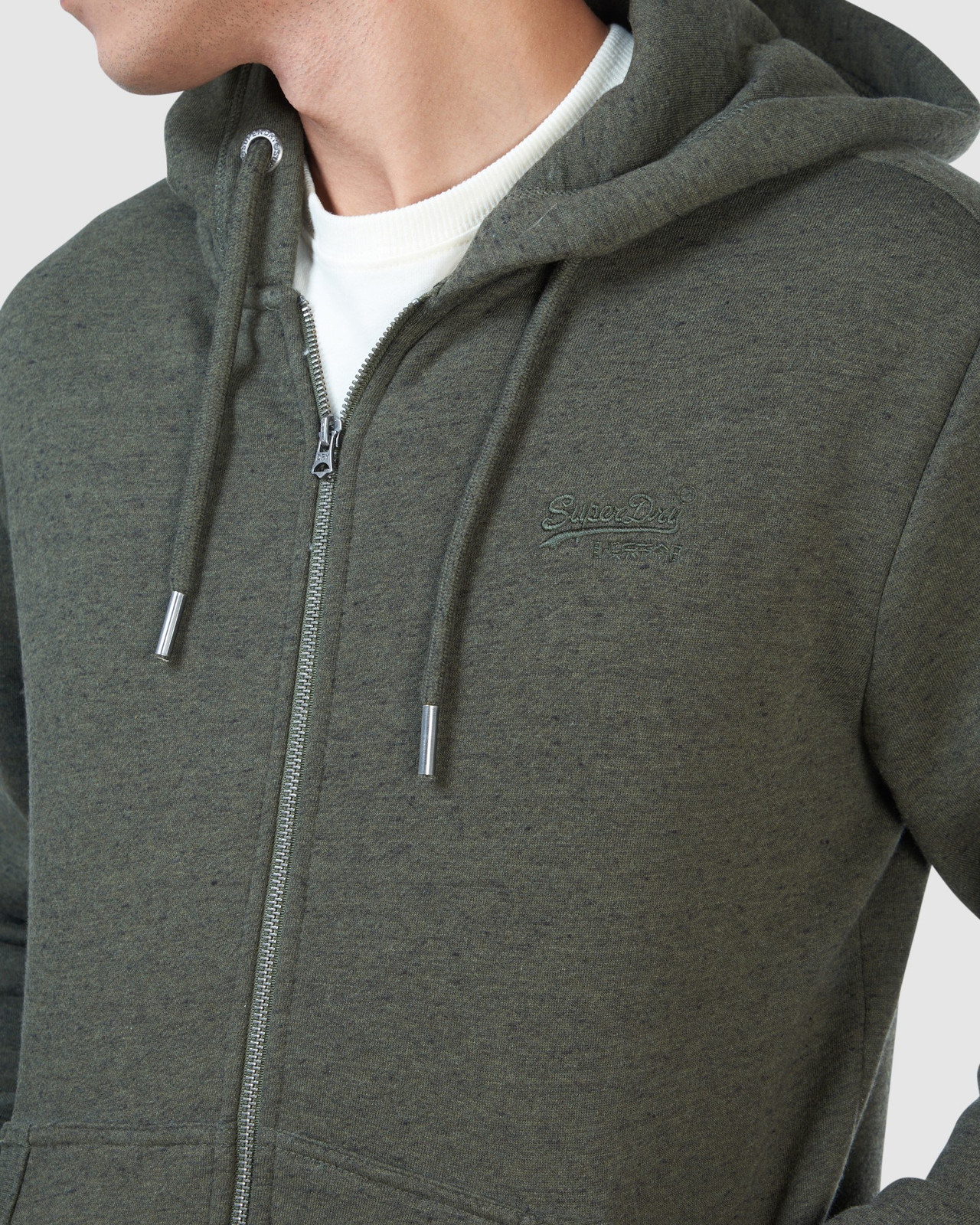 Superdry Mens Orange Label Classic Zip Hood Green Zip Hoodies 7