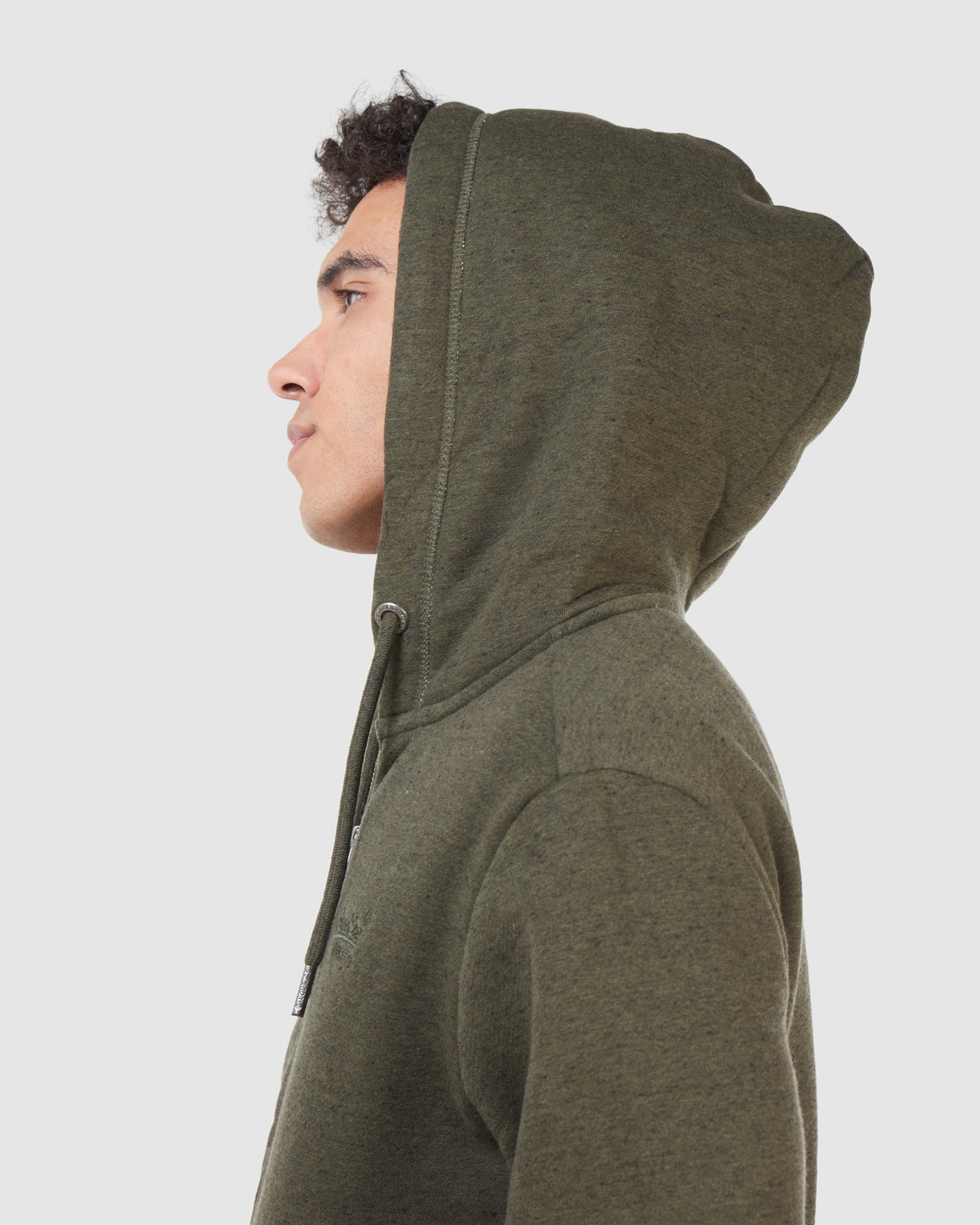 Superdry Mens Orange Label Classic Zip Hood Green Zip Hoodies 10