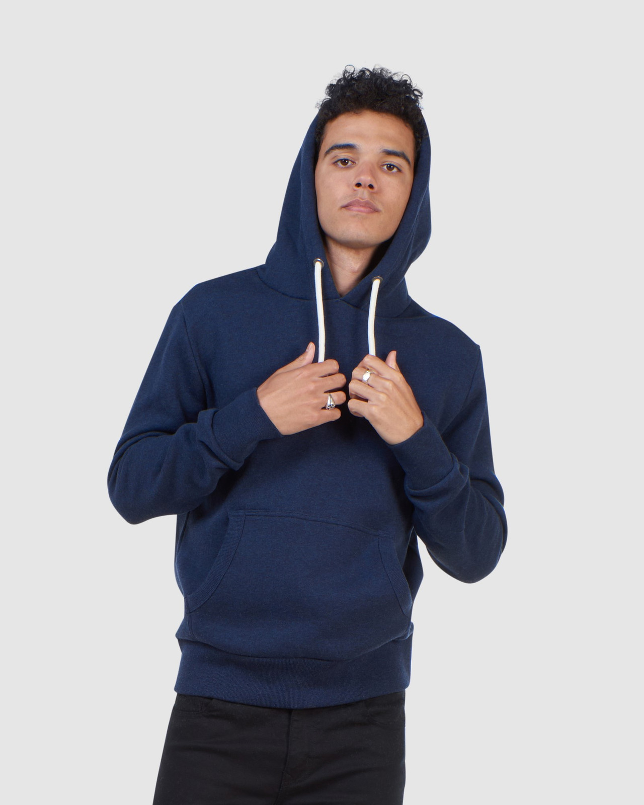 Superdry Mens Orange Label Classic Hood Blue Overhead Hoodie 0
