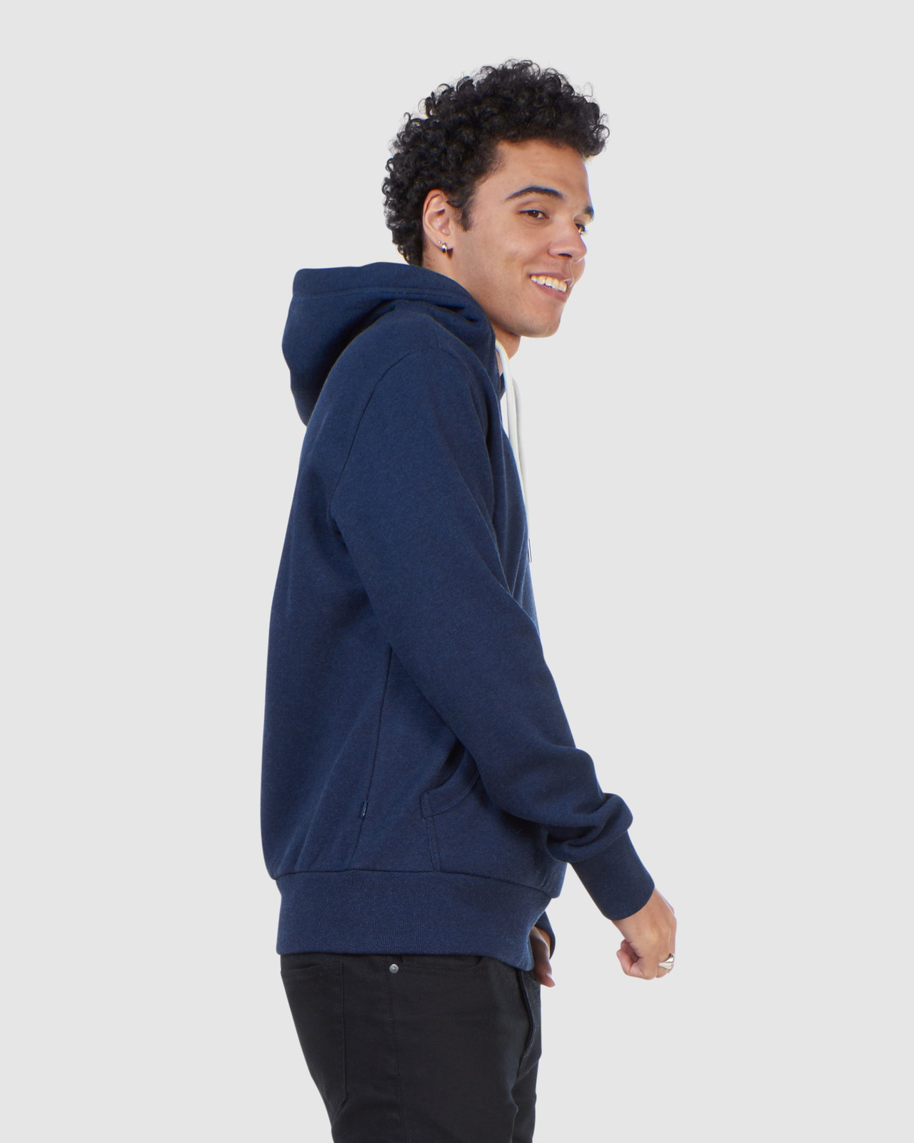 Superdry Mens Orange Label Classic Hood Blue Overhead Hoodie 2