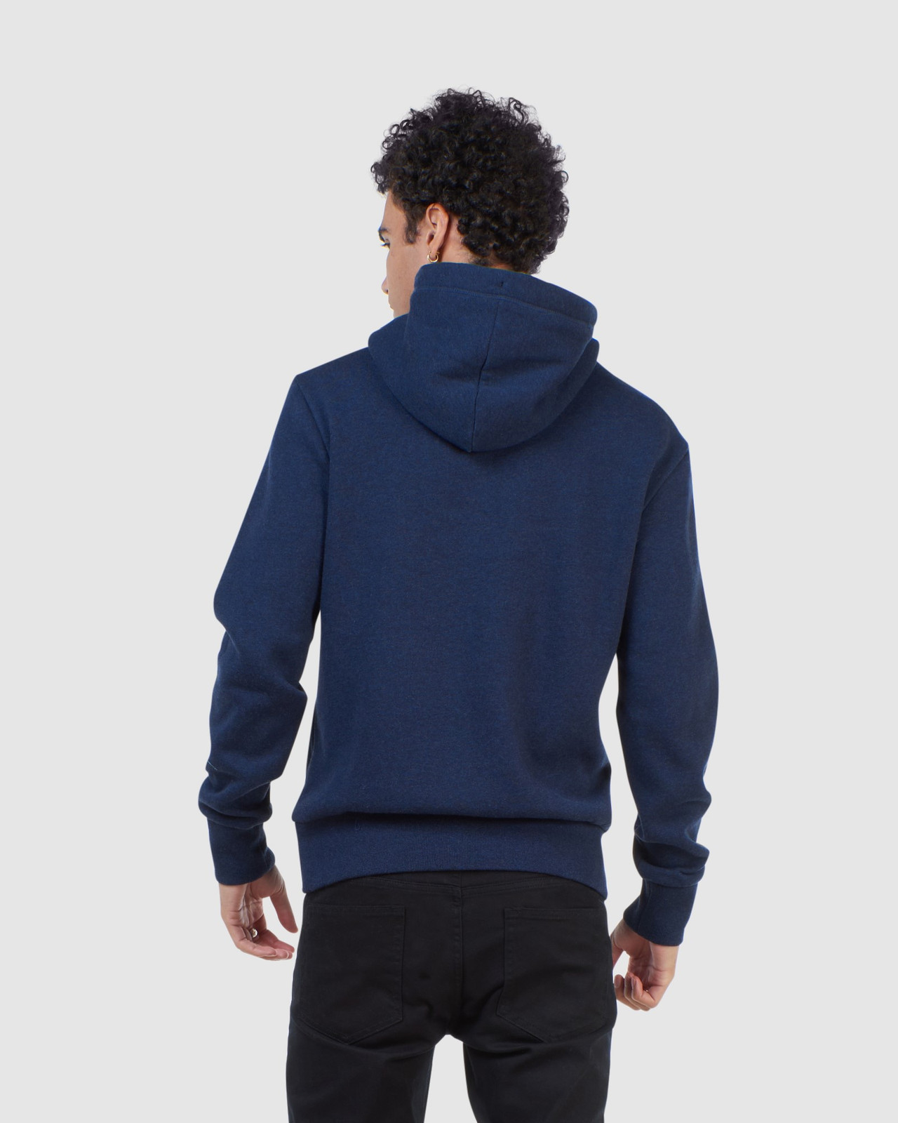 Superdry Mens Orange Label Classic Hood Blue Overhead Hoodie 3