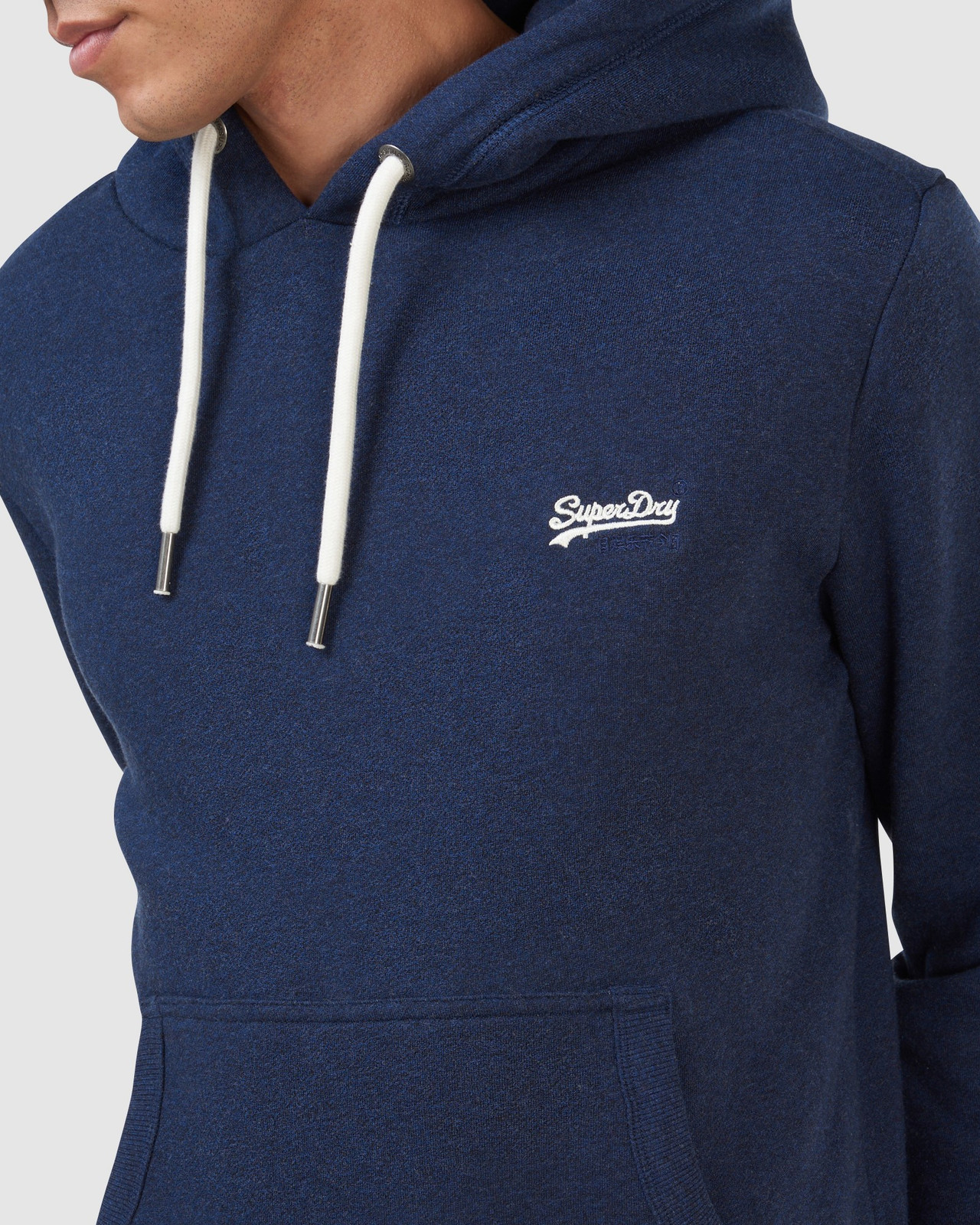 Superdry Mens Orange Label Classic Hood Blue Overhead Hoodie 5
