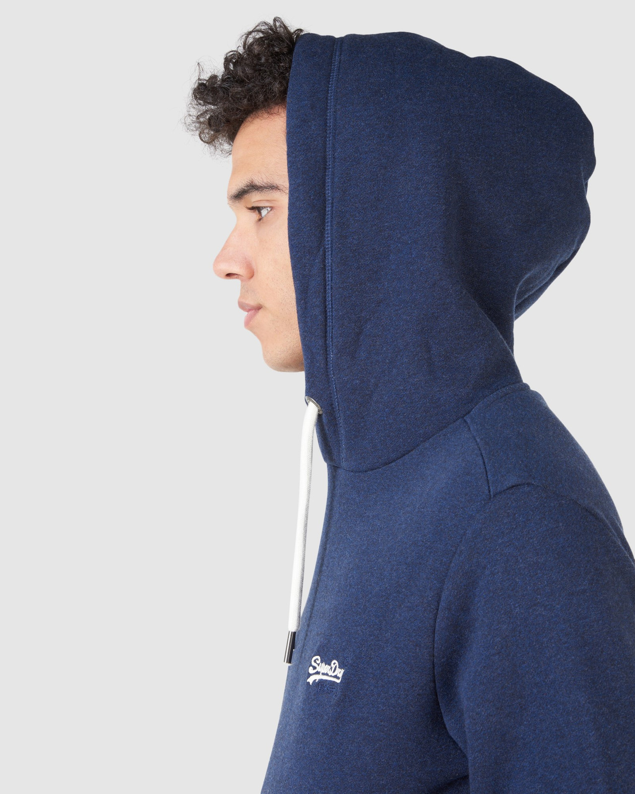 Superdry Mens Orange Label Classic Hood Blue Overhead Hoodie 8