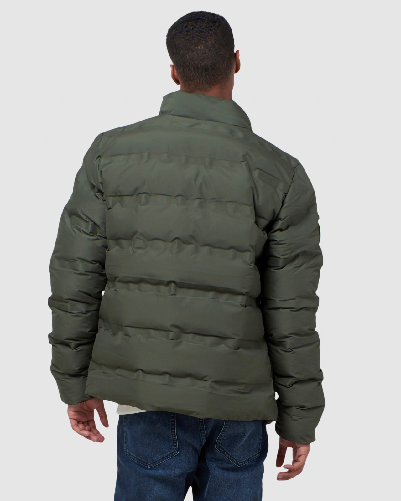 Superdry Mens ULTIMATE RADAR QUILT JACKET Green Puffer Jackets 3