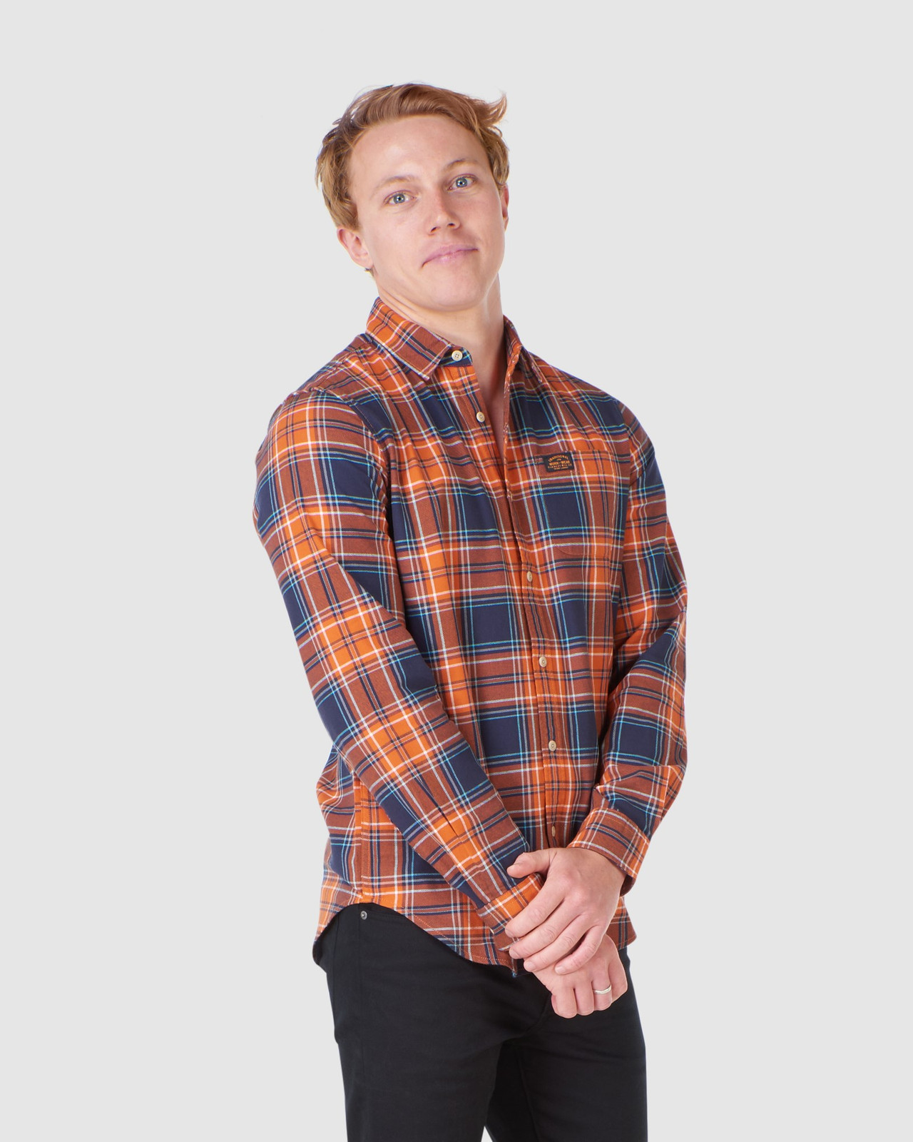 Superdry Mens WORKWEAR SHIRT Neutrals Check Shirts 0