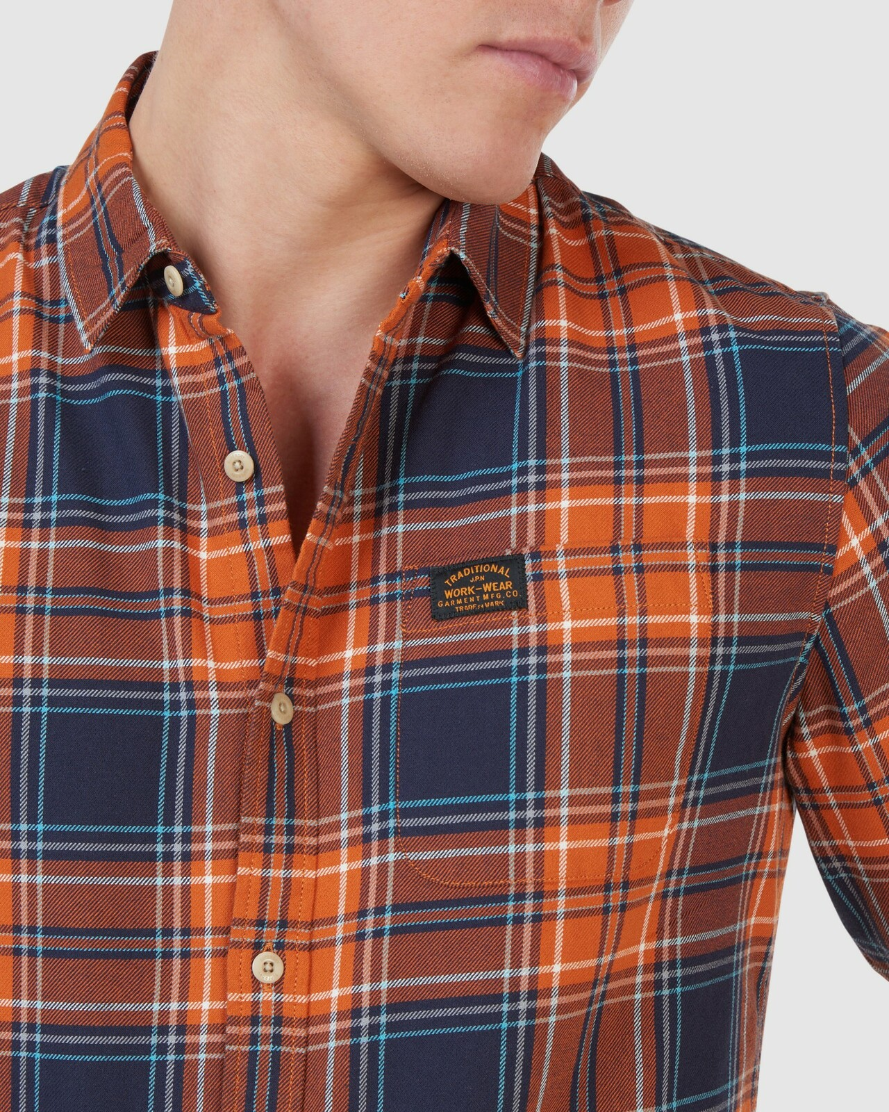 Superdry Mens WORKWEAR SHIRT Neutrals Check Shirts 4