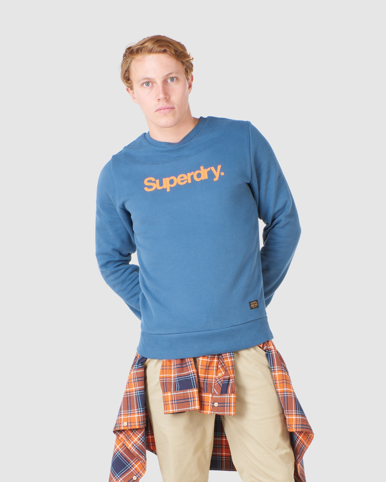Superdry Mens CL CANVAS CREW Blue Sweat Tops 0