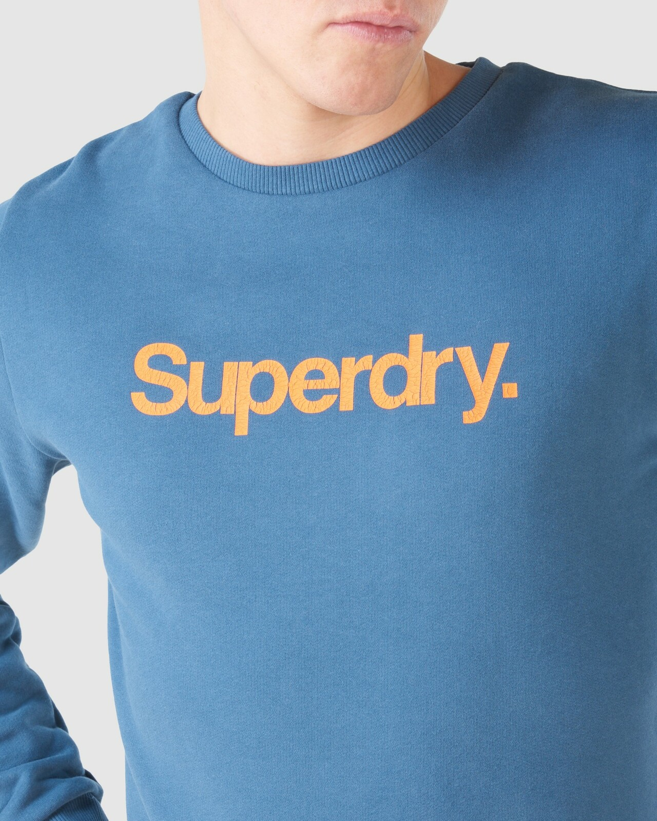 Superdry Mens CL CANVAS CREW Blue Sweat Tops 6