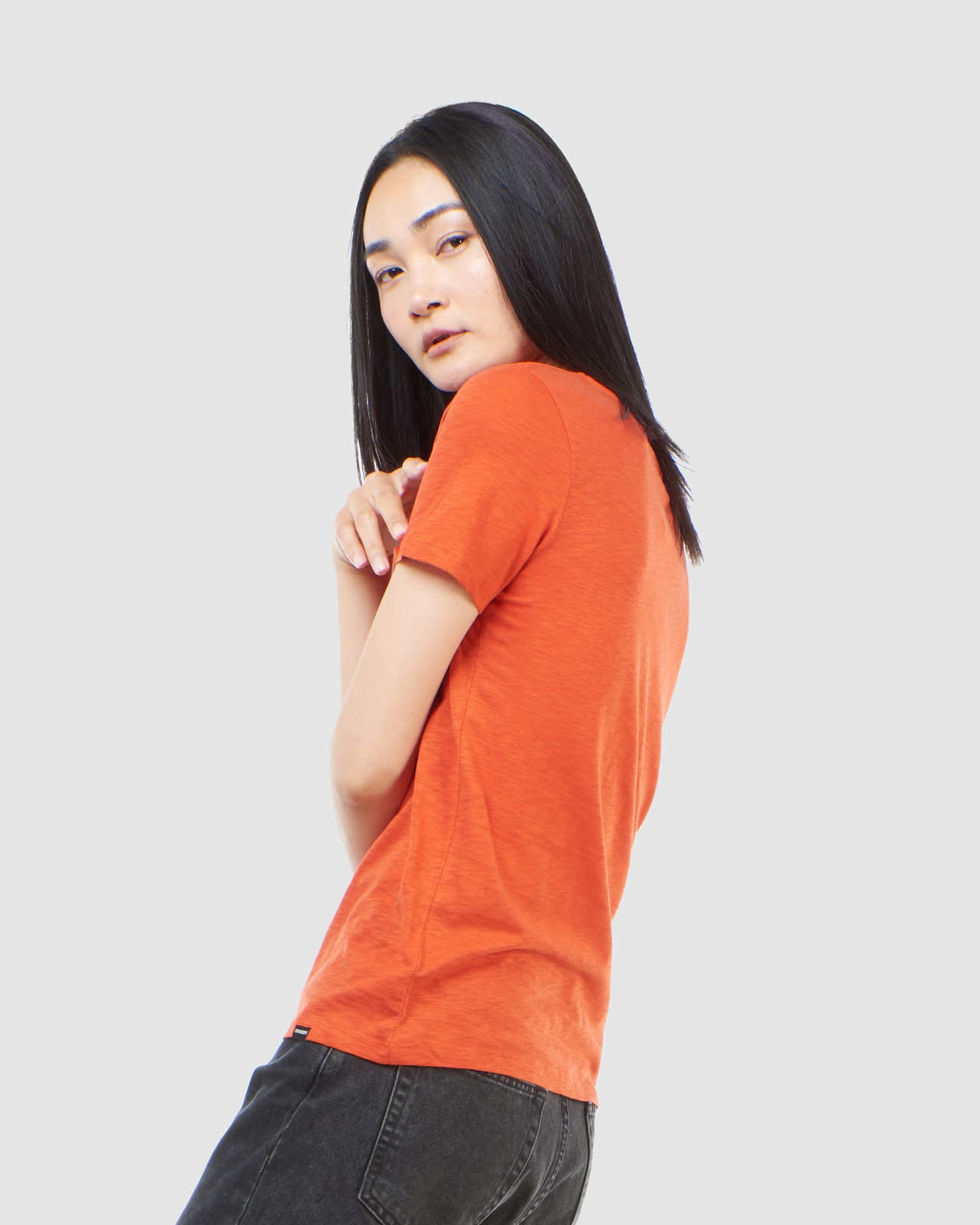Superdry Womens SCRIPTED V NECK TEE Brown Plain T Shirts 9