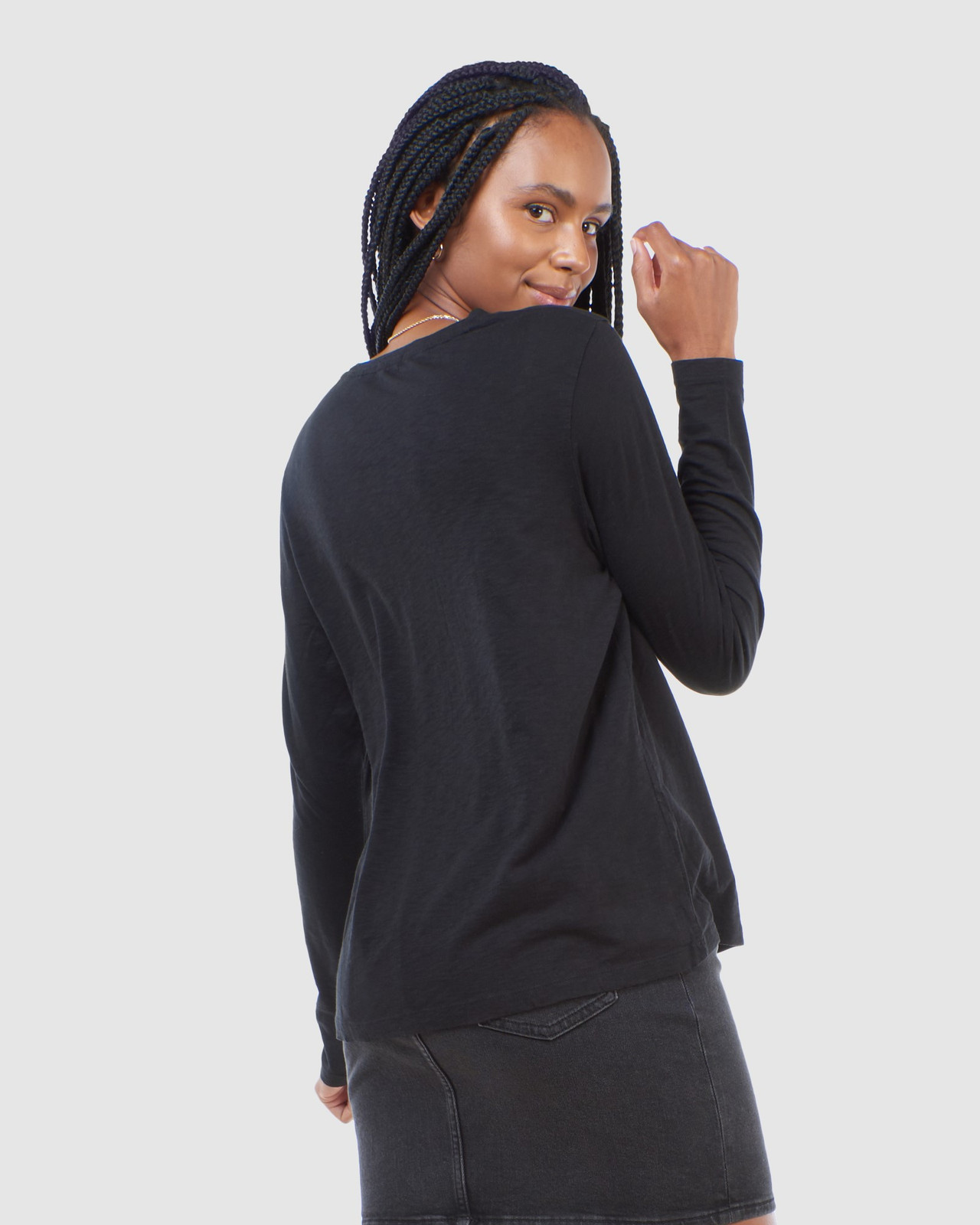 Superdry Womens SCRIPTED L/S CREW TOP Black Long Sleeve Top 3