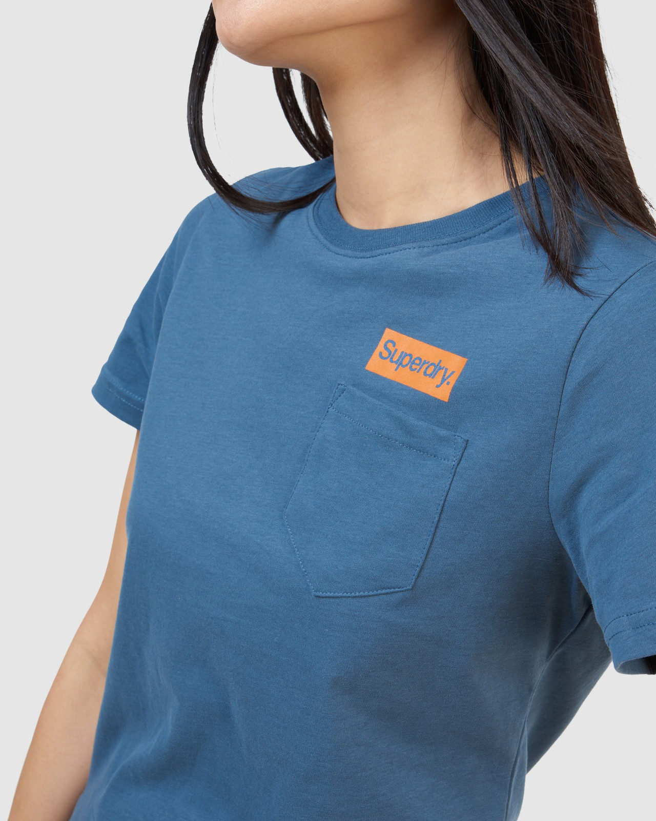 Superdry Womens CL PATINA TEE Blue Printed T Shirts 5