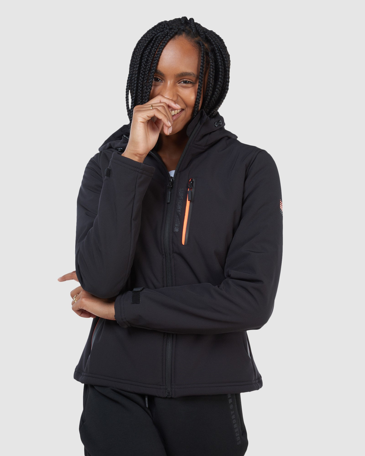 Superdry Womens ARCTIC SOFT SHELL JACKET Black Windcheaters 0