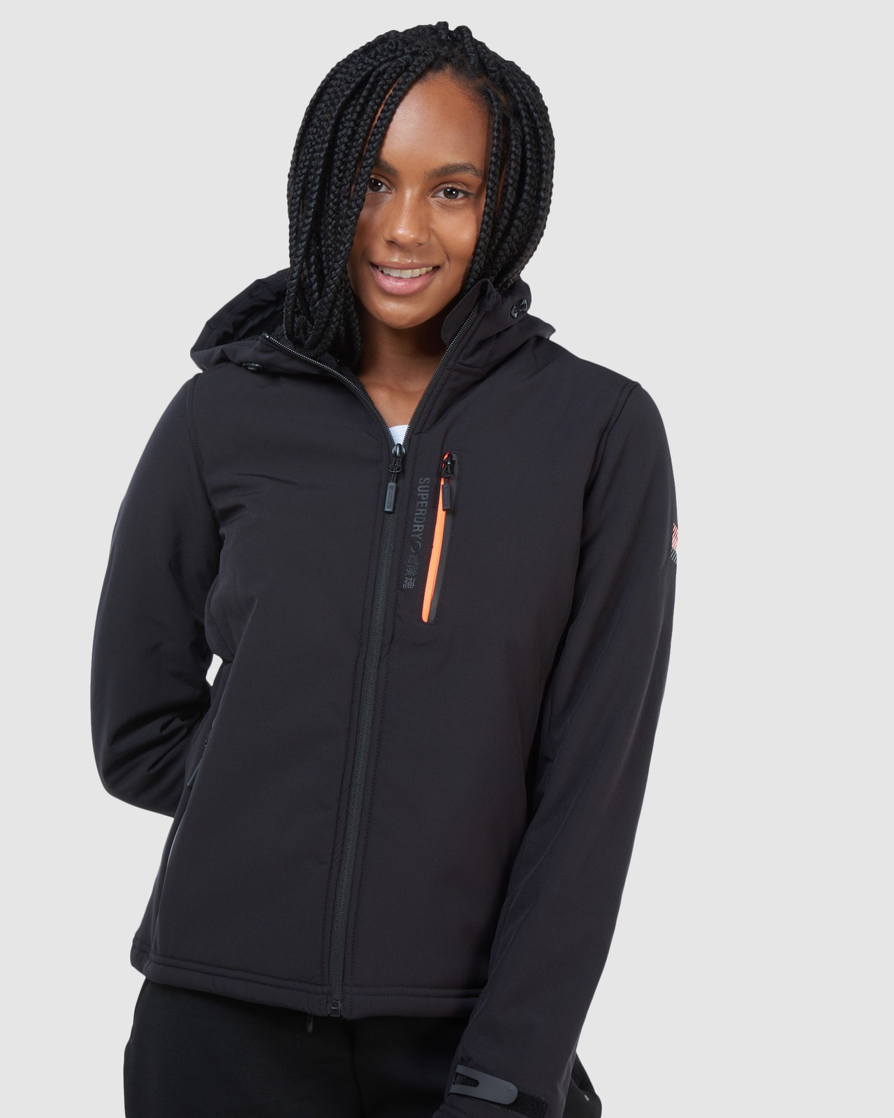 Superdry Womens ARCTIC SOFT SHELL JACKET Black Windcheaters 2