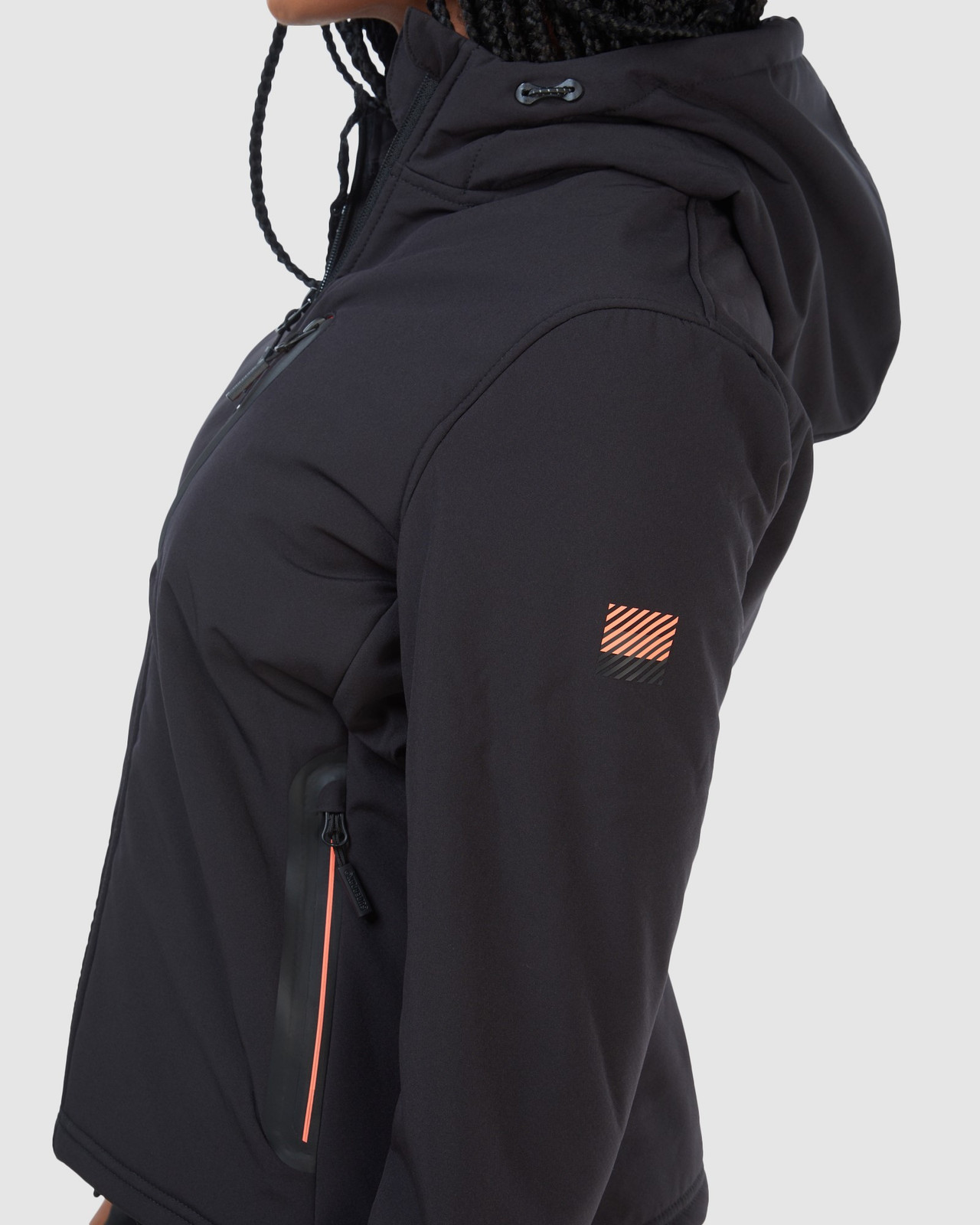 Superdry Womens ARCTIC SOFT SHELL JACKET Black Windcheaters 7