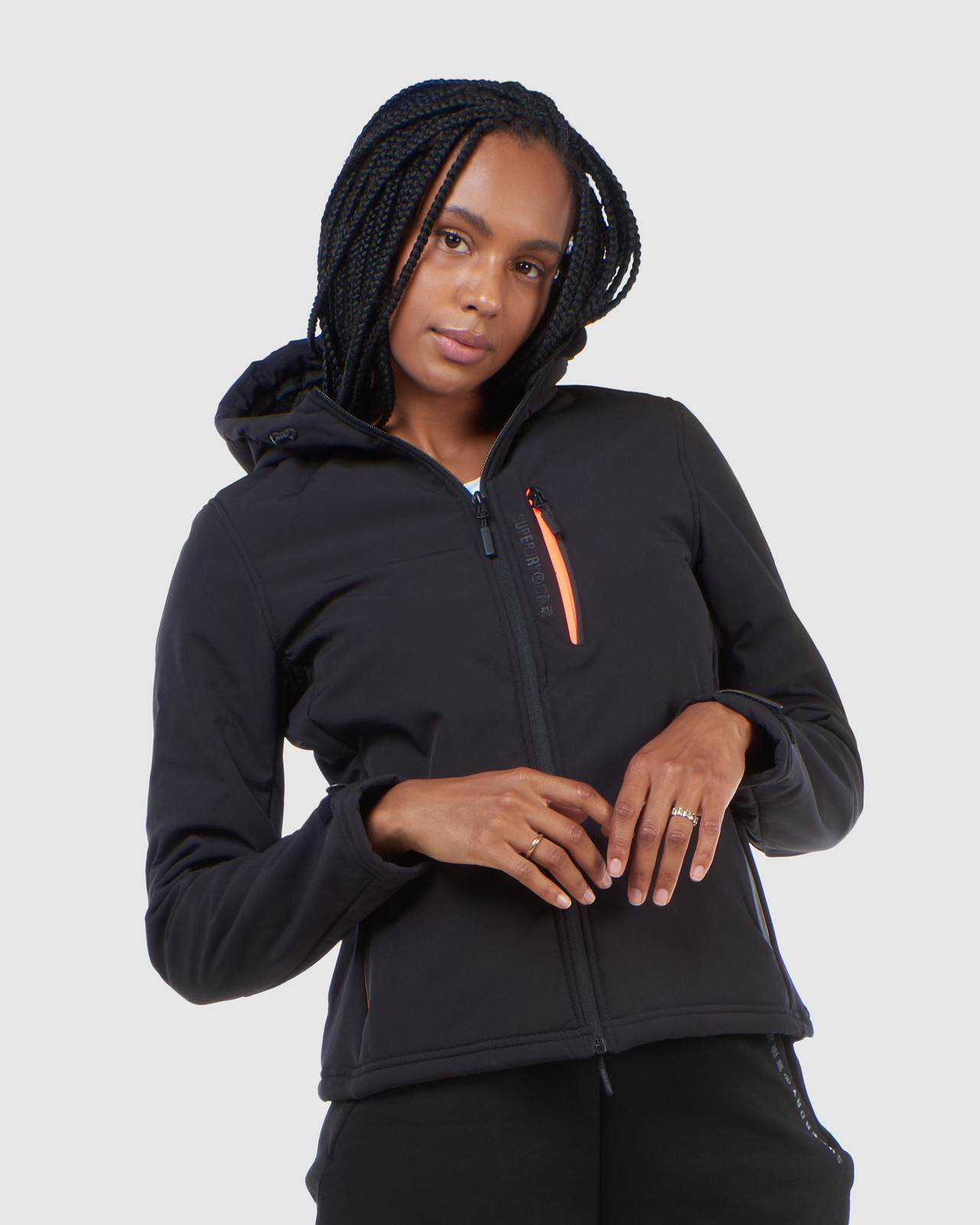 Superdry Womens ARCTIC SOFT SHELL JACKET Black Windcheaters 3