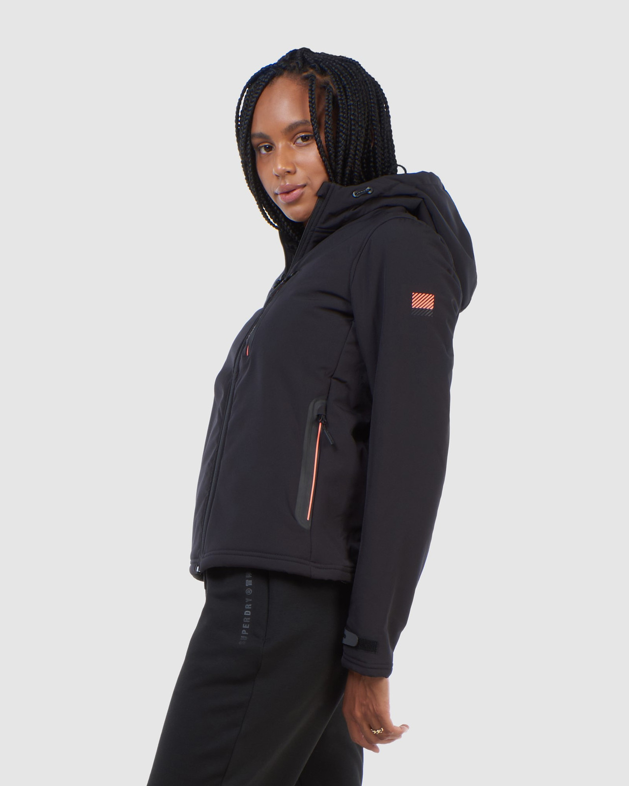 Superdry Womens ARCTIC SOFT SHELL JACKET Black Windcheaters 4