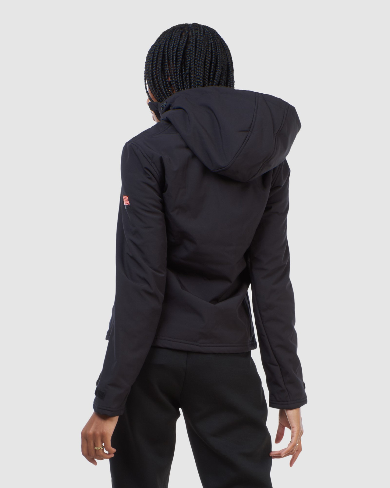 Superdry Womens ARCTIC SOFT SHELL JACKET Black Windcheaters 5