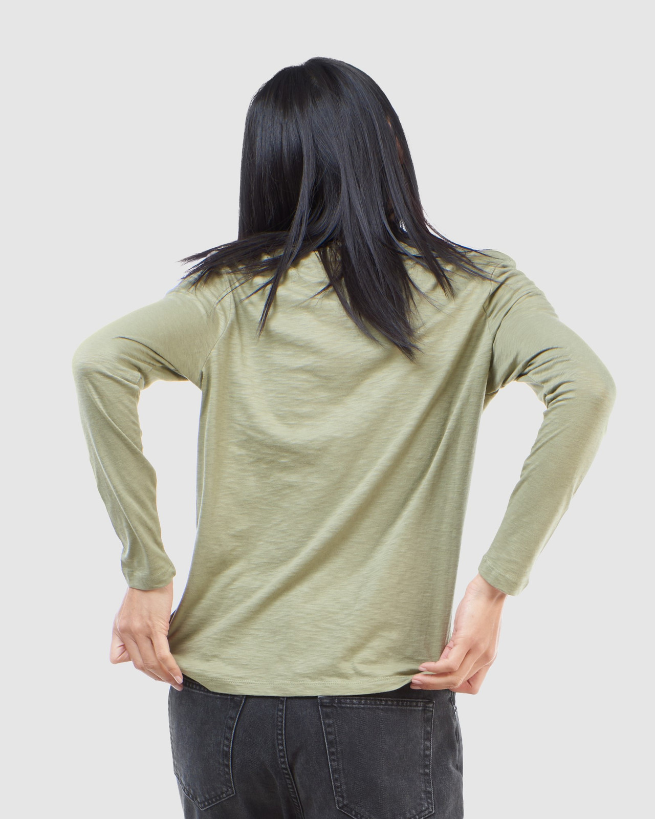 Superdry Womens SCRIPTED L/S CREW TOP Green Long Sleeve Top 4
