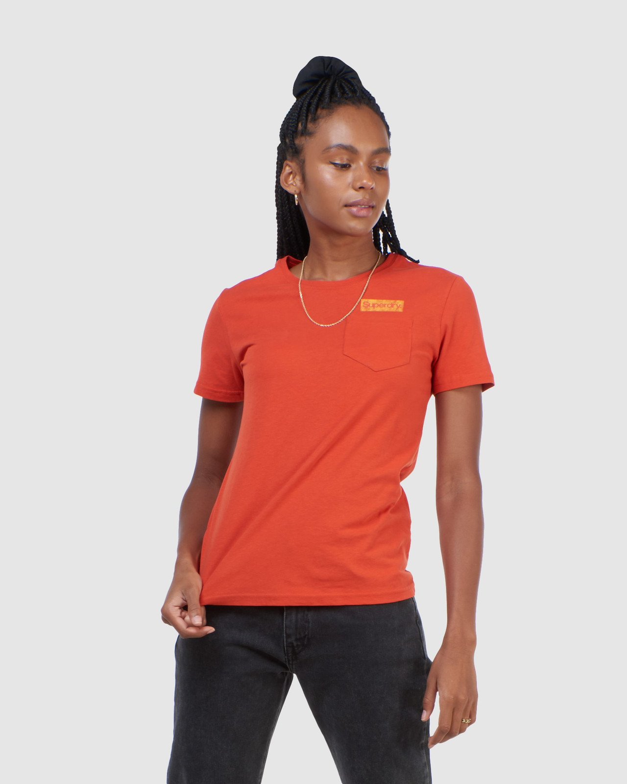 Superdry Womens CL PATINA TEE Brown Printed T Shirts 0
