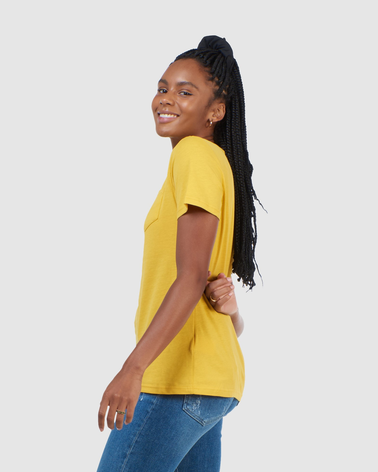 Superdry Womens CL PATINA TEE Yellow Printed T Shirts 2