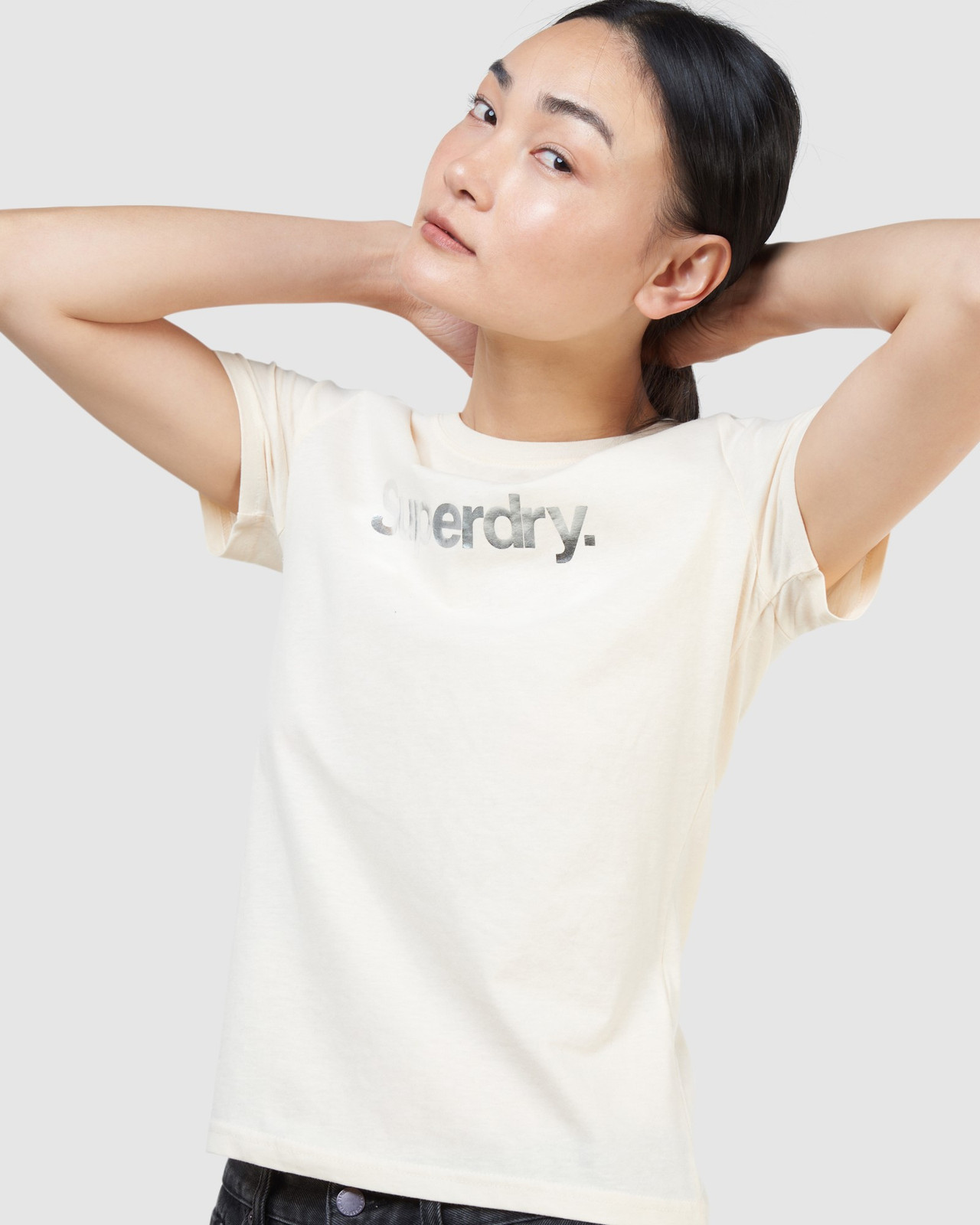 Superdry Womens CL PATINA TEE Neutrals Printed T Shirts 3