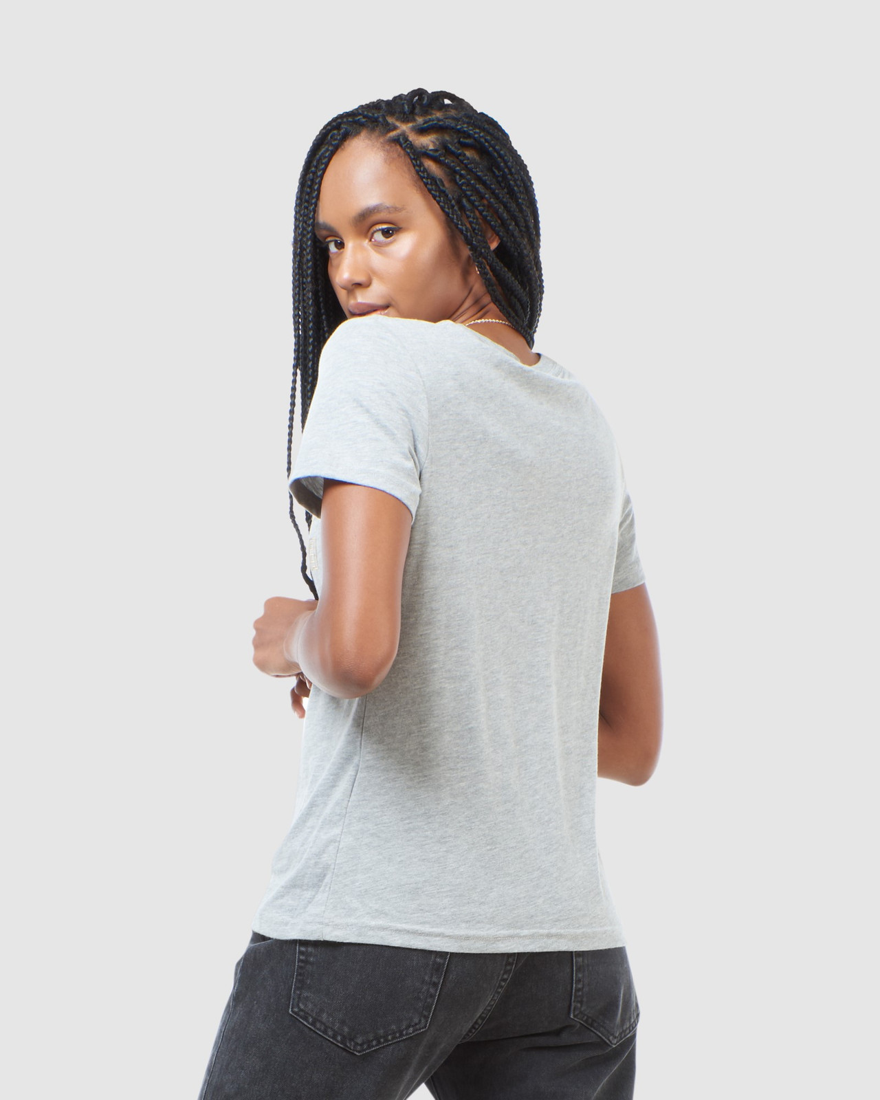 Superdry Womens VL LUSTER TEE Grey Printed T Shirts 7